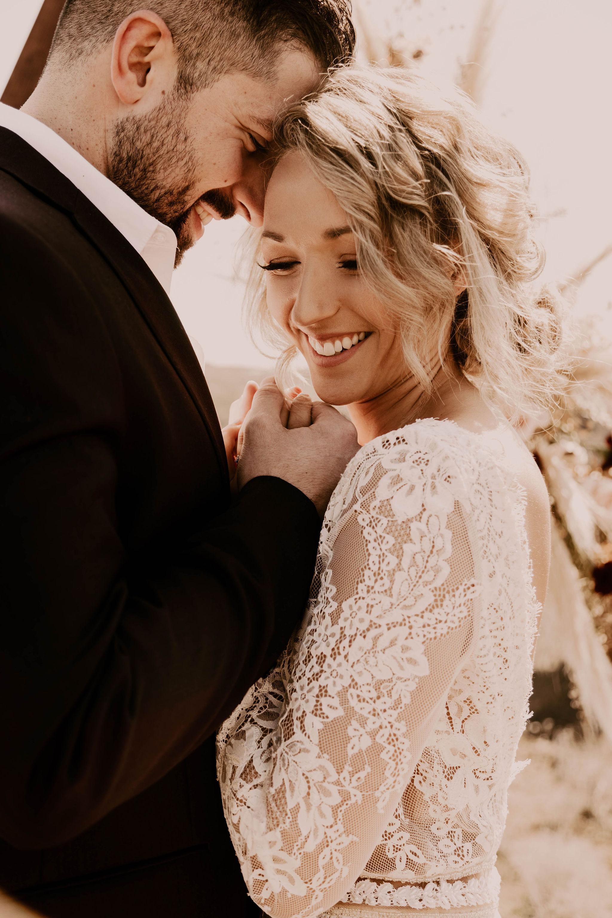 bridal hair lace long sleeve dress spokane wedding