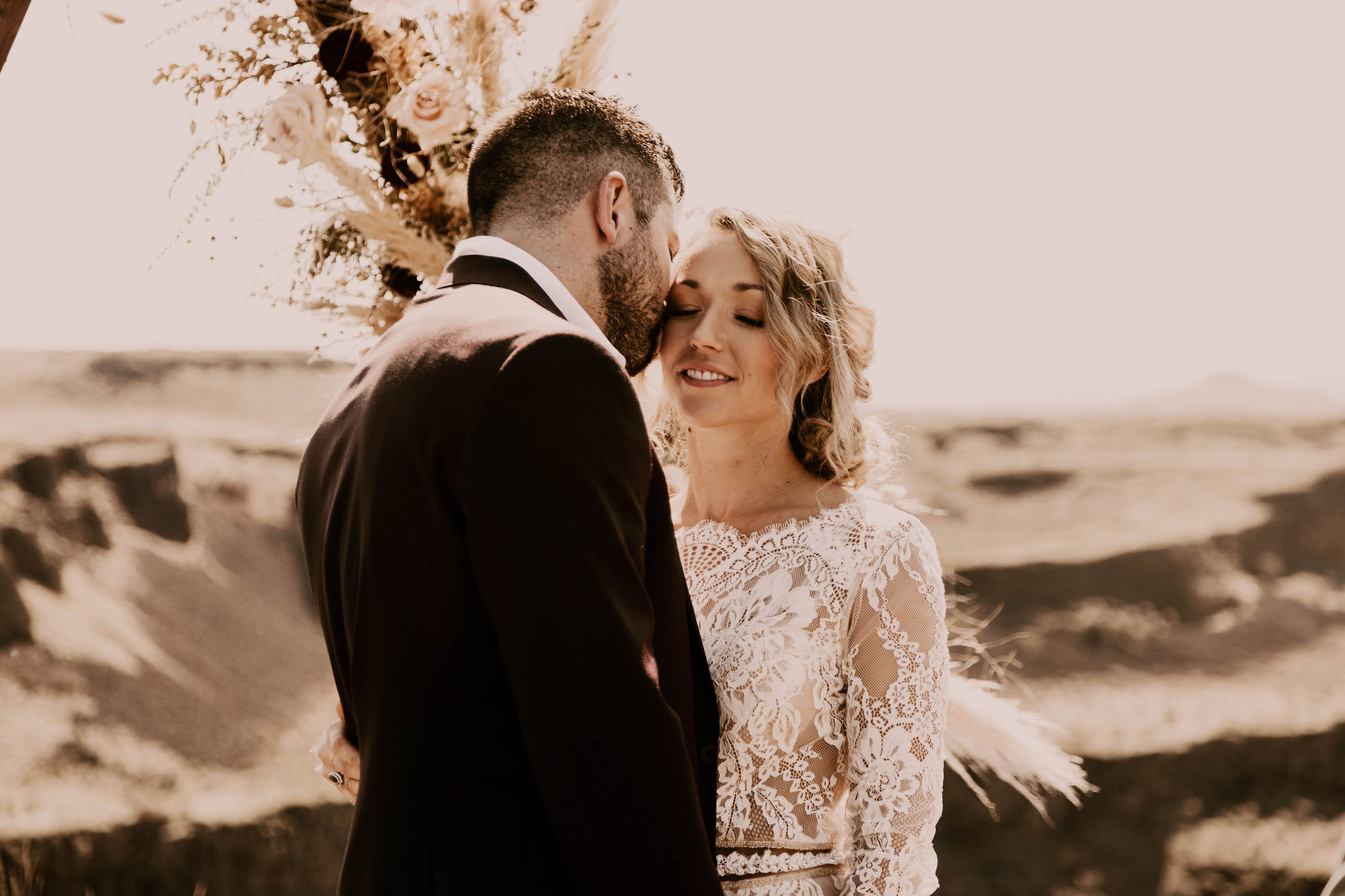 spokane summer elopement bride wedding