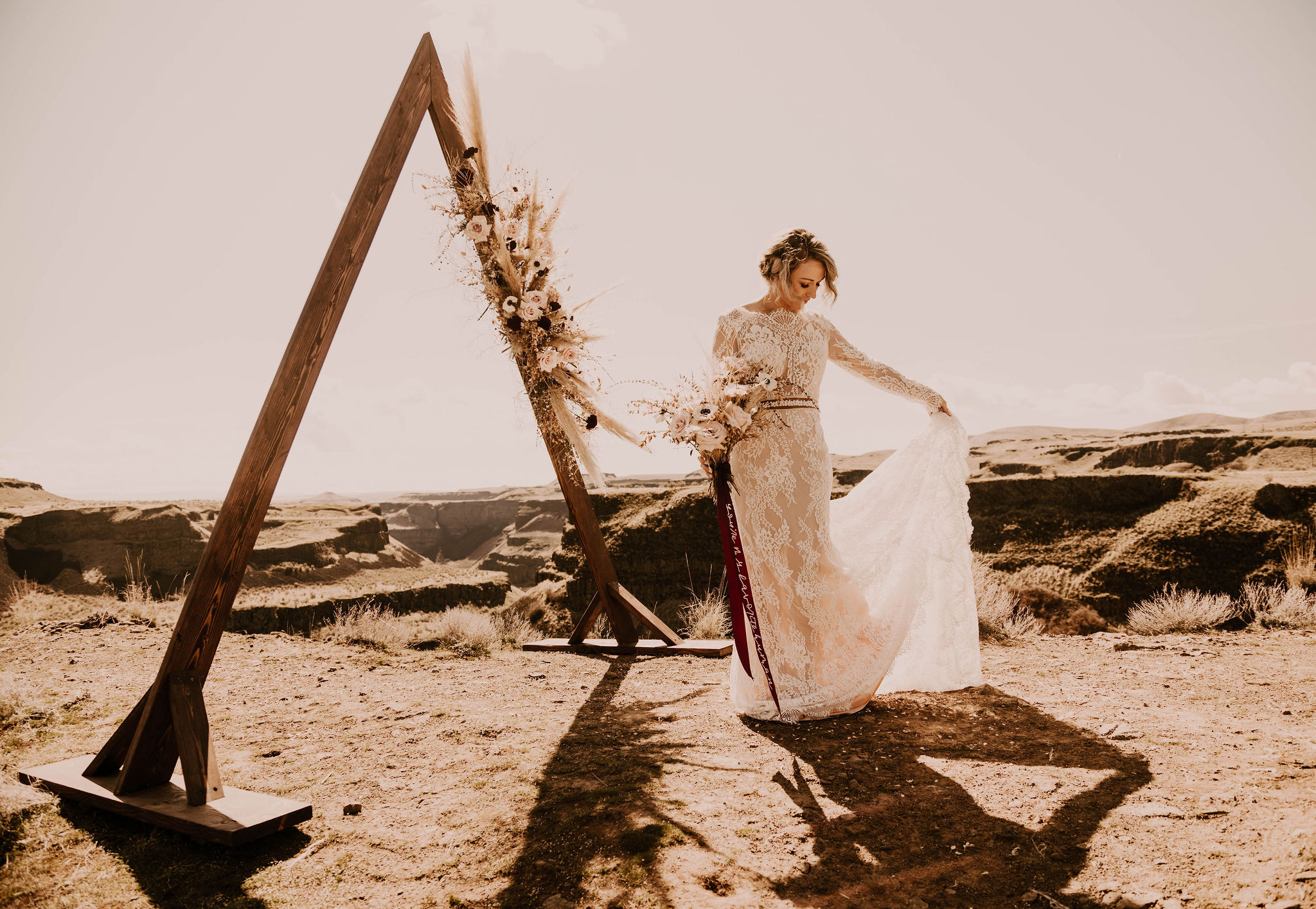 bridal dress train spokane wedding