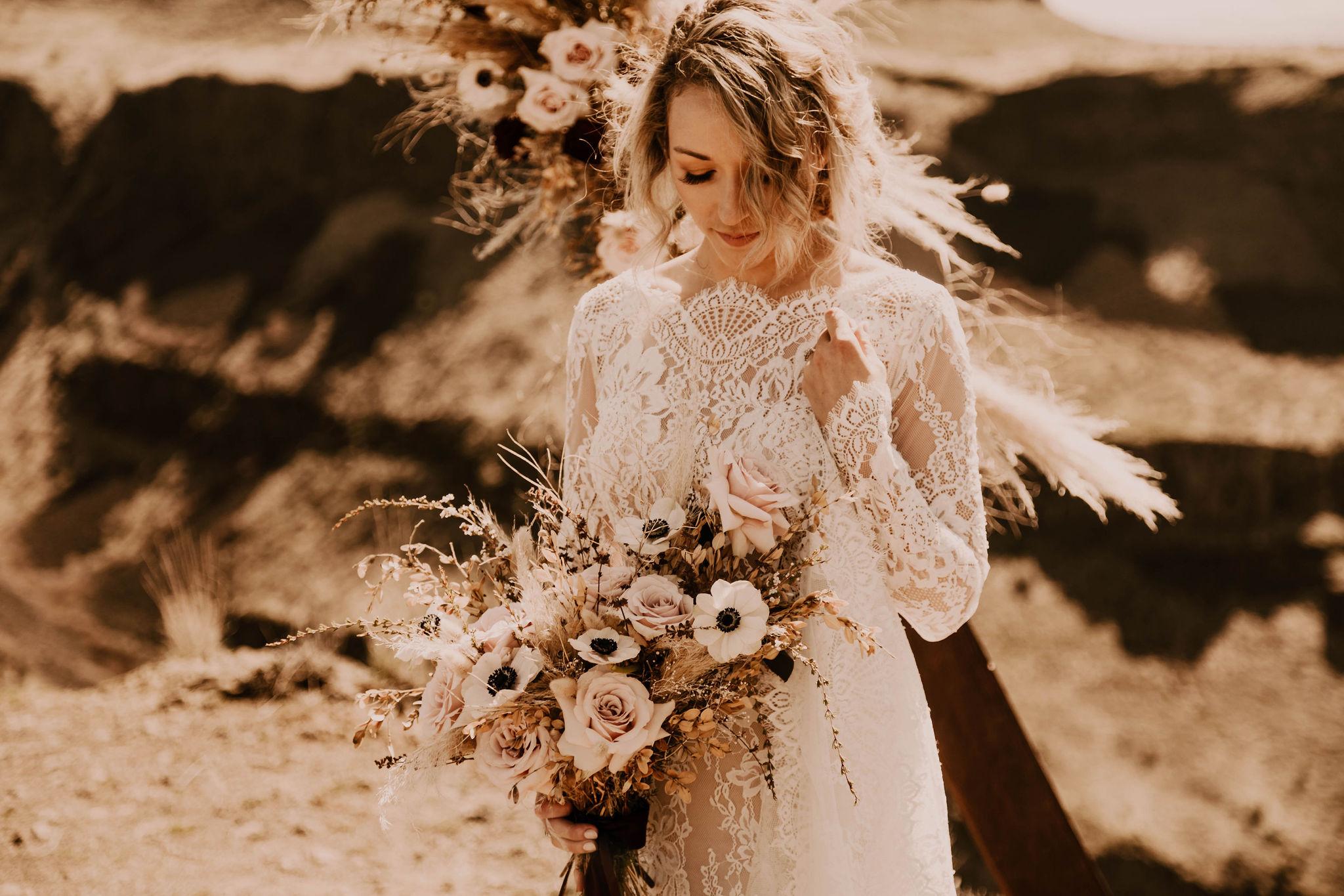 spokane bride summer wedding