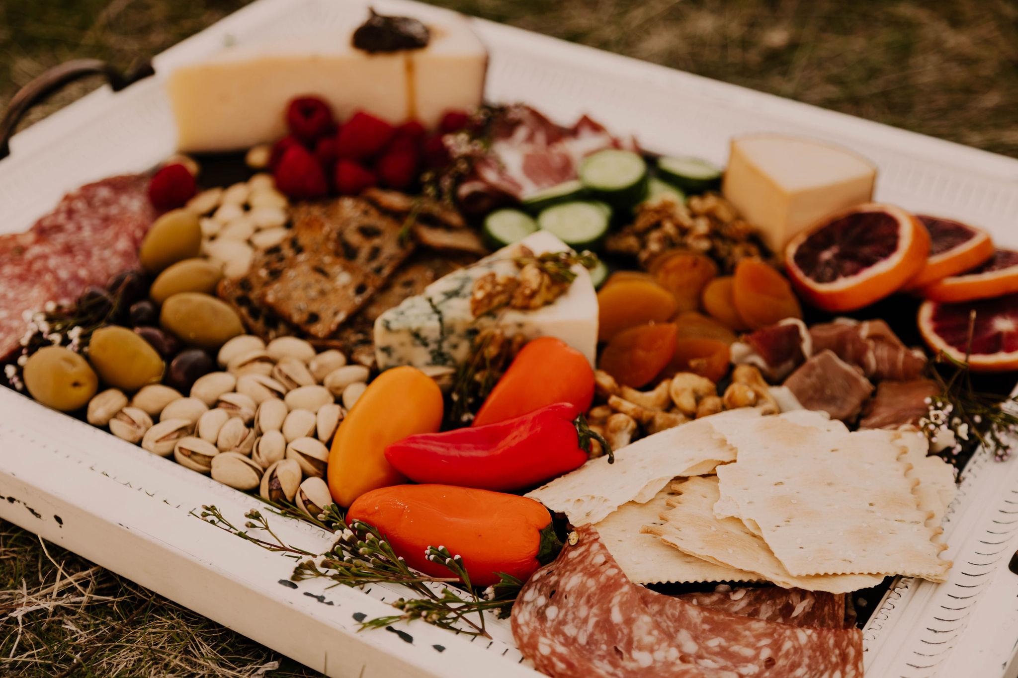 spokane wedding charcuterie board snacks
