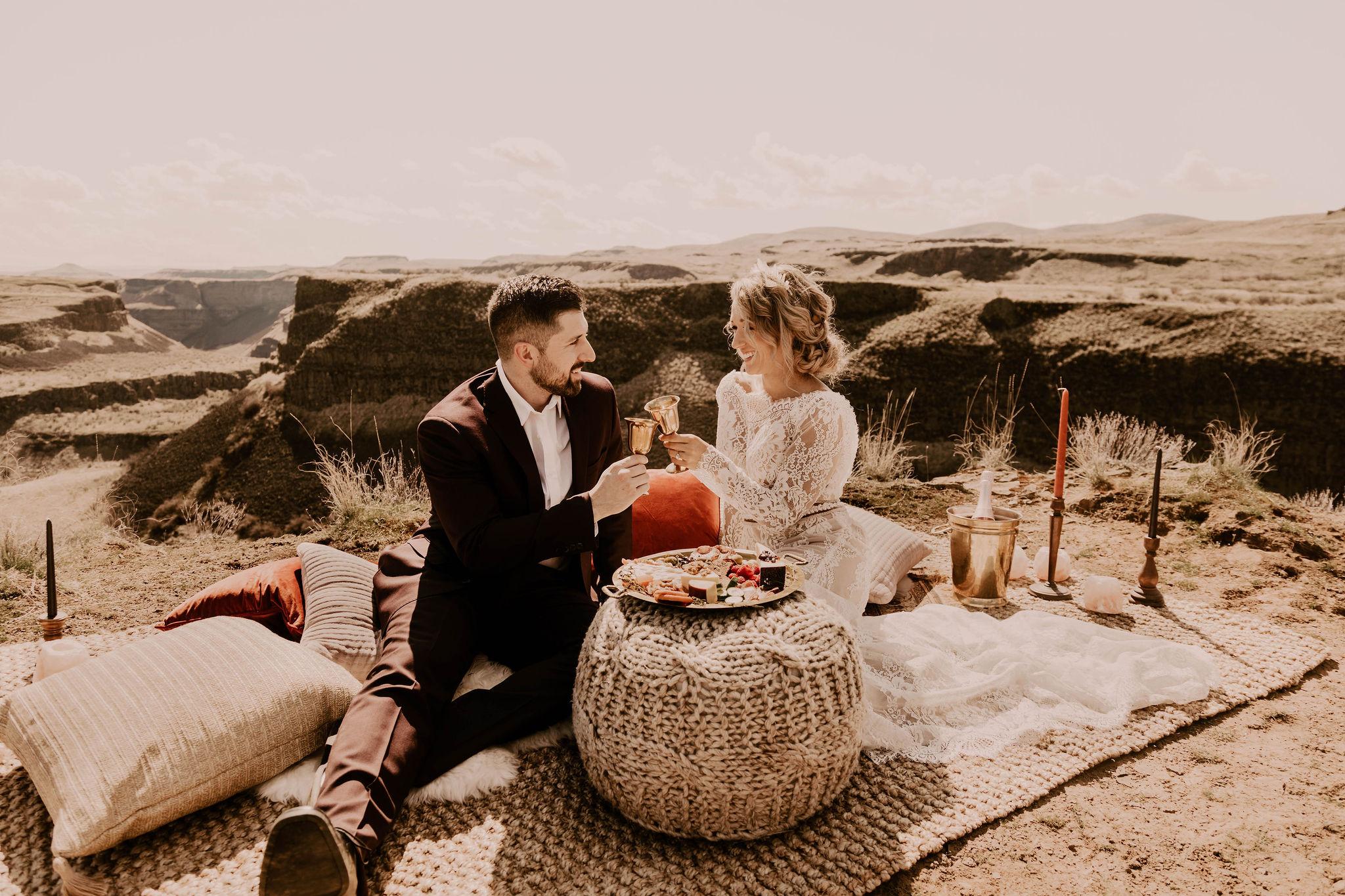 spokane elopement bride wedding