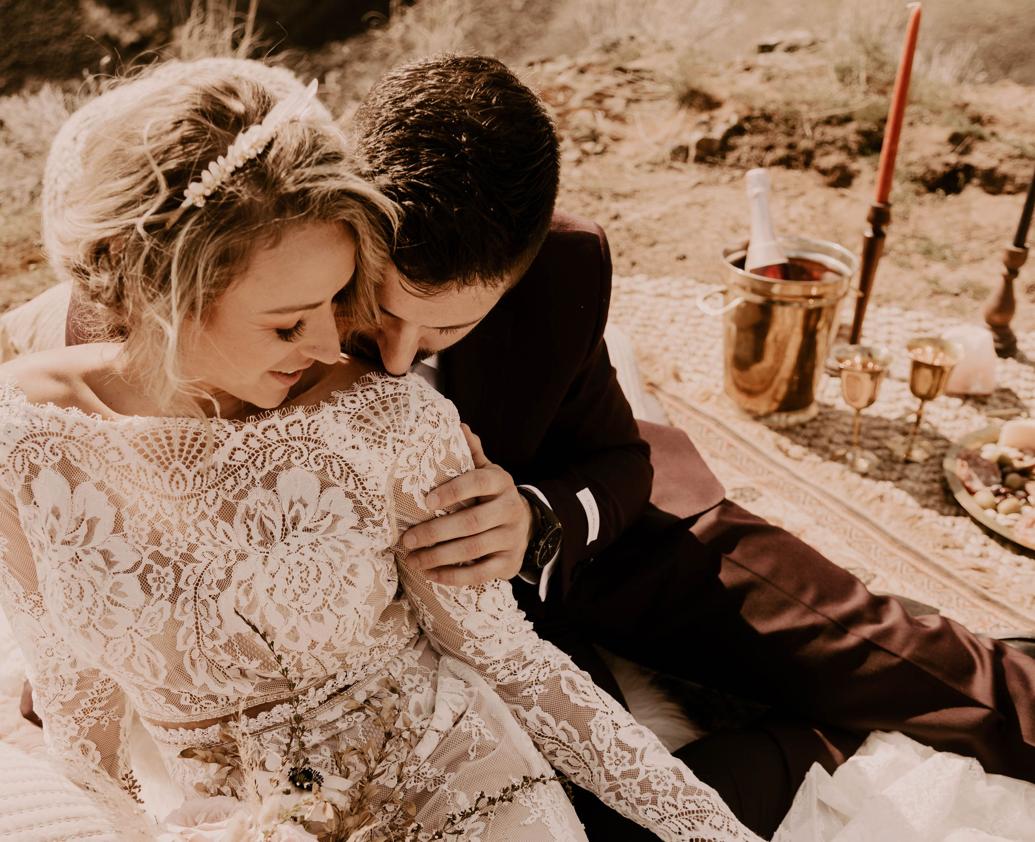 champagne toast spokane bride wedding