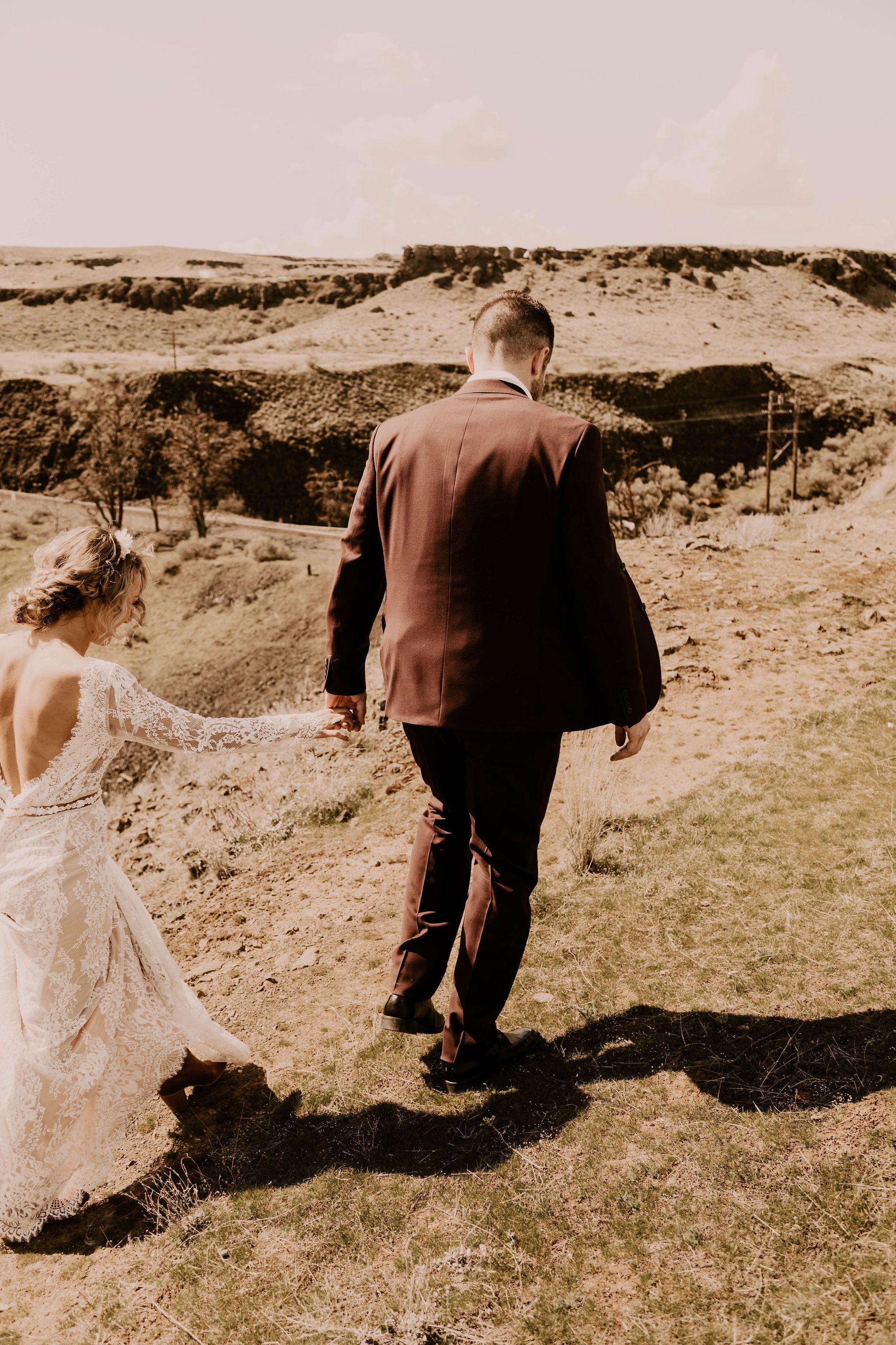 spokane couple bride wedding
