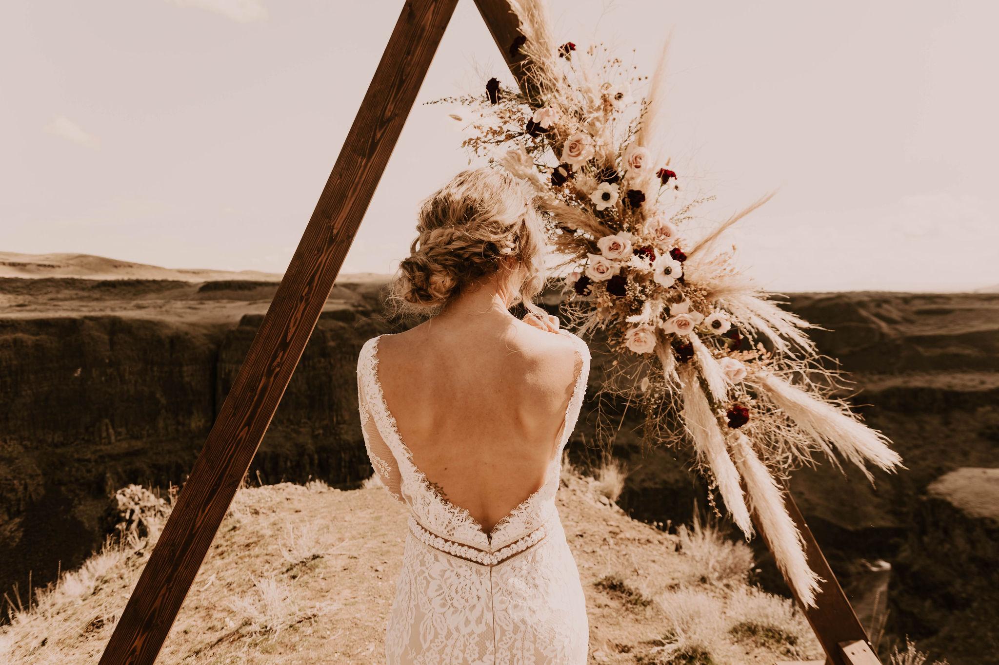 open back summer spokane bride wedding