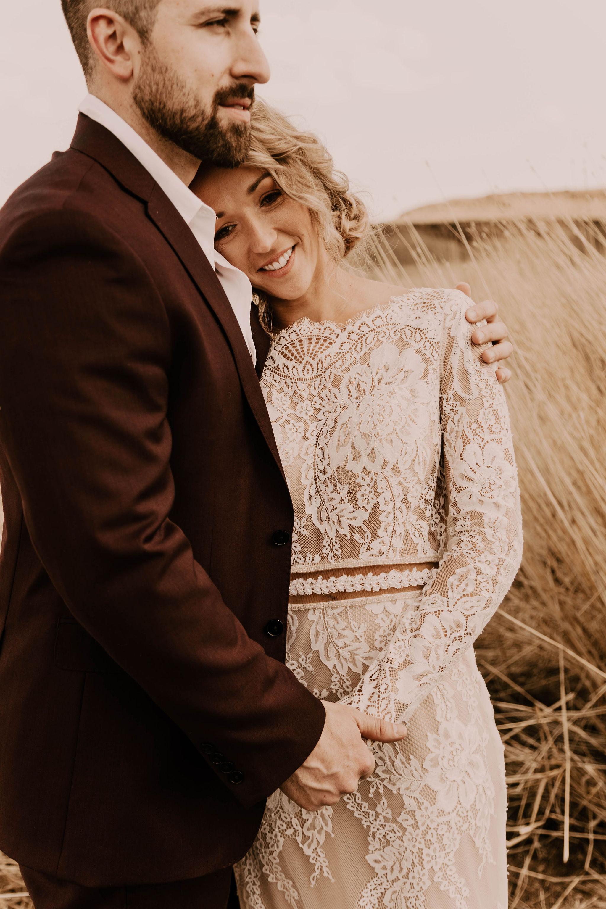 summer spokane bride desert elopement