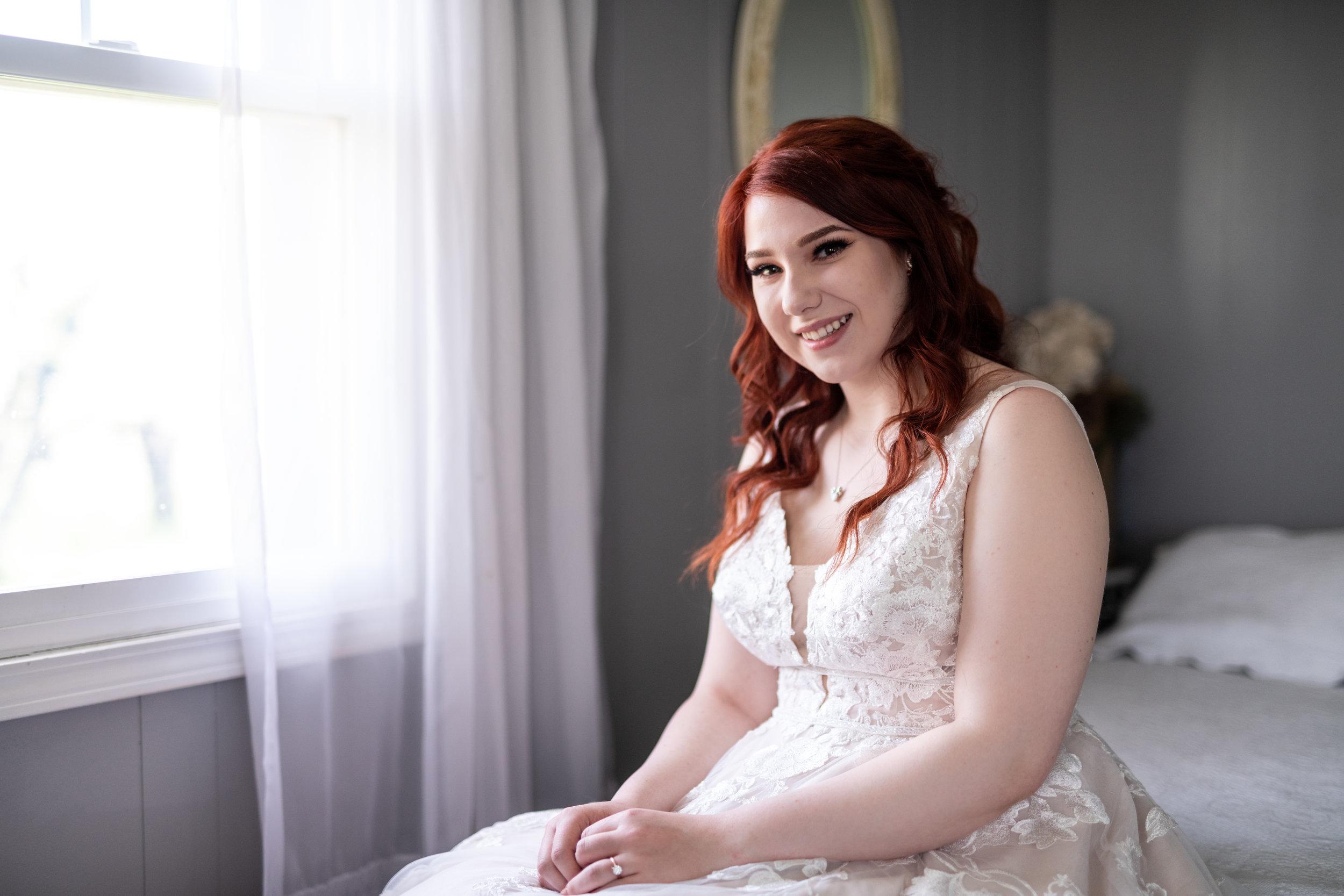 Spokane green bluff wedding dress bride