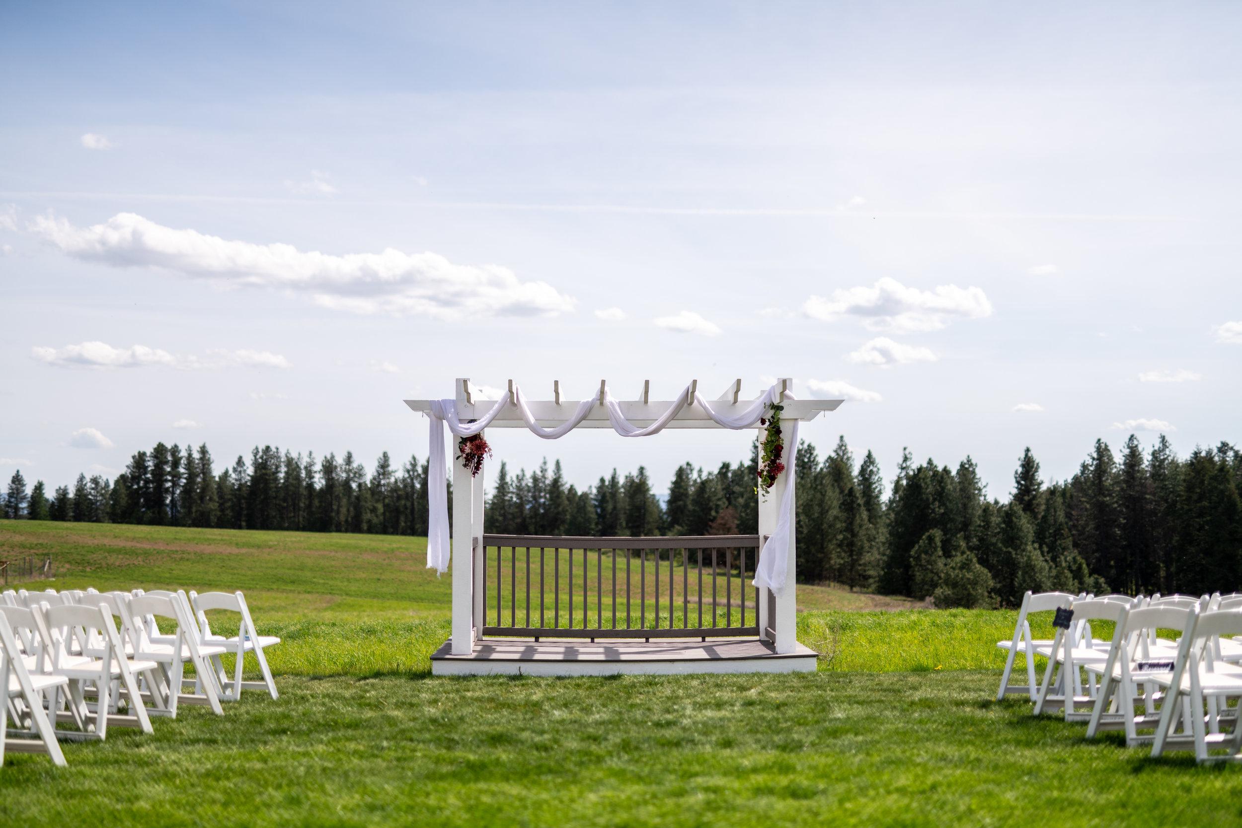 Spokane green bluff wedding dress bride venue