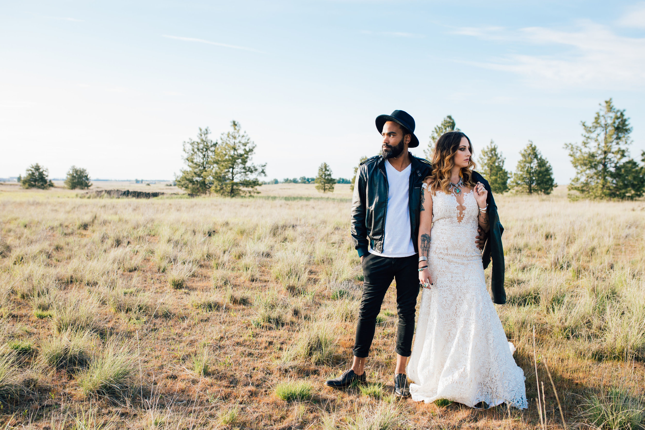cool elopement spokane wedding bad ass wedding