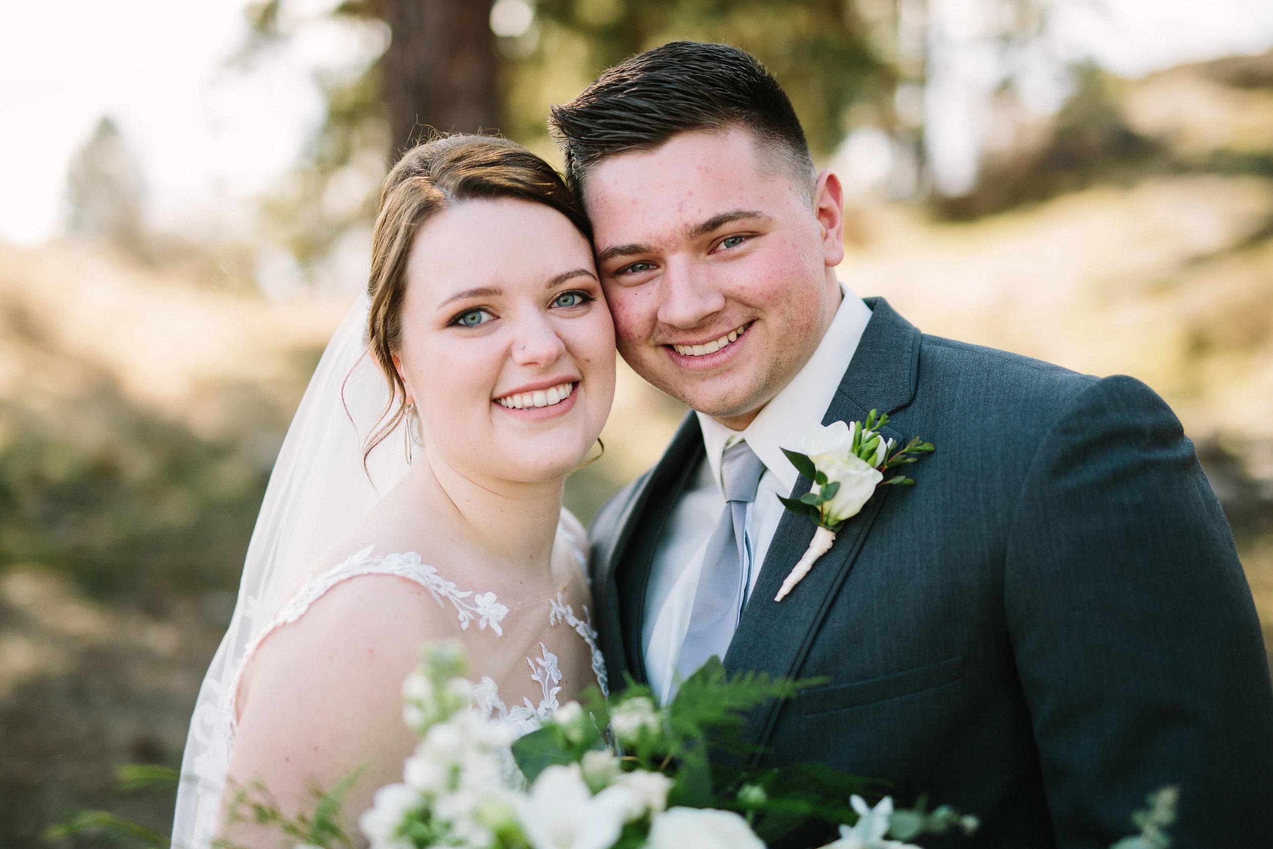 Fun Rustic spokane wedding couple portrait before wedding