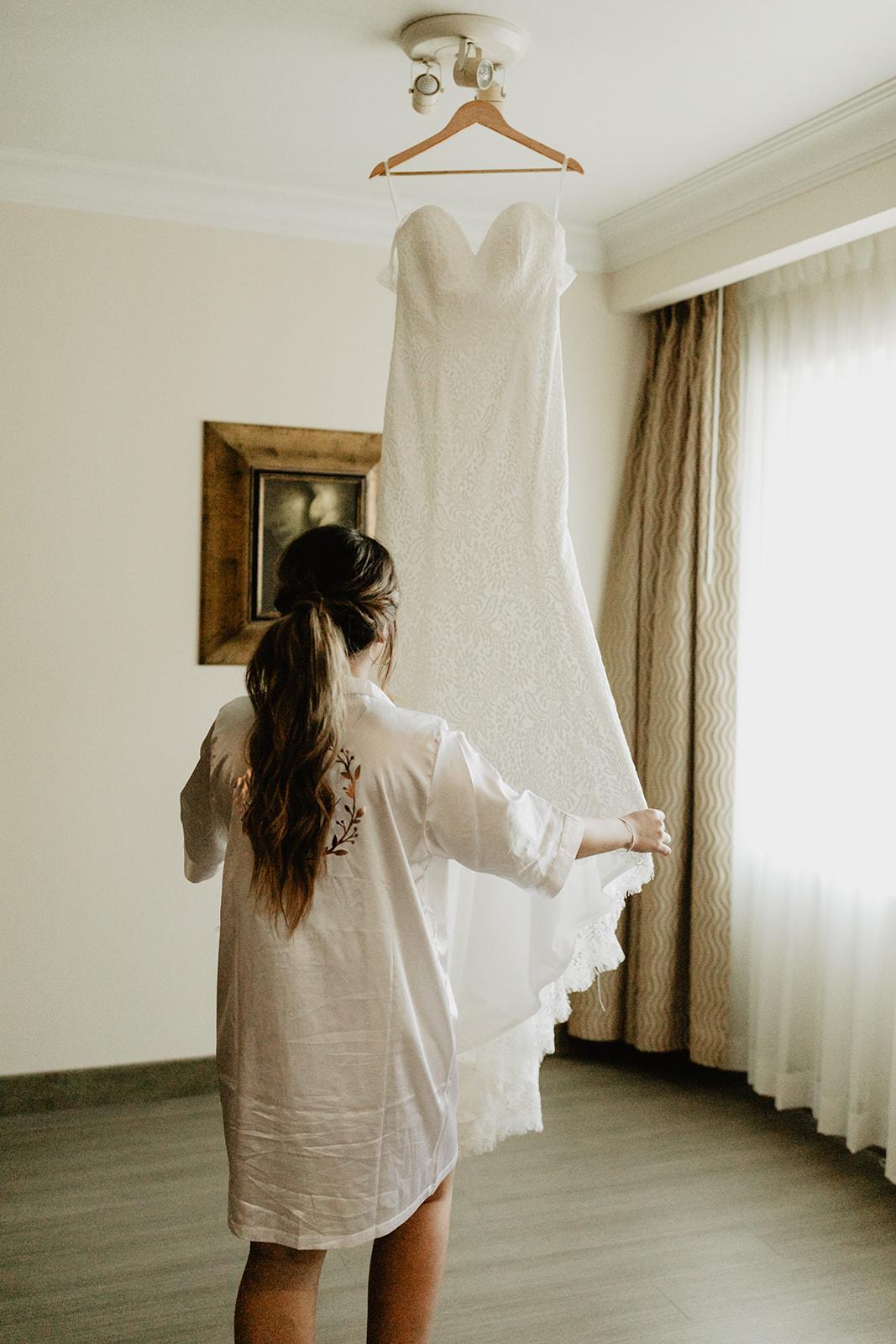Chateau Rive Spokane Wedding Spokane Blog Dress hanging