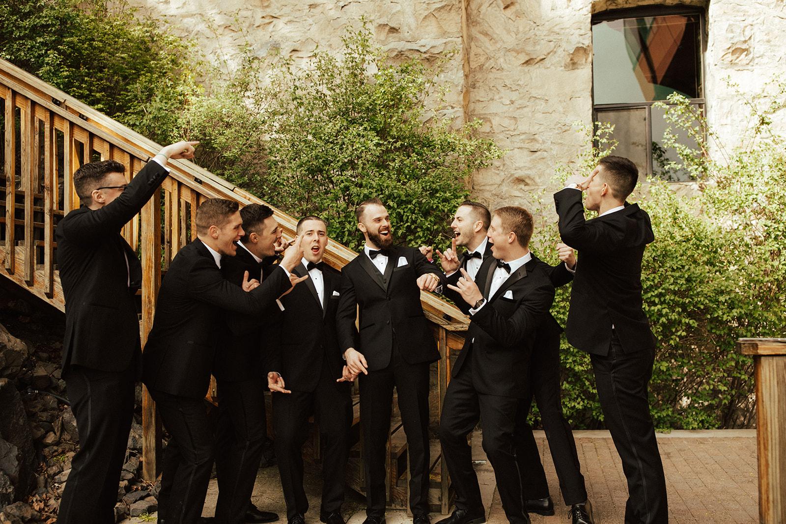 Chateau Rive Spokane Wedding Spokane Blog Dress groomsman