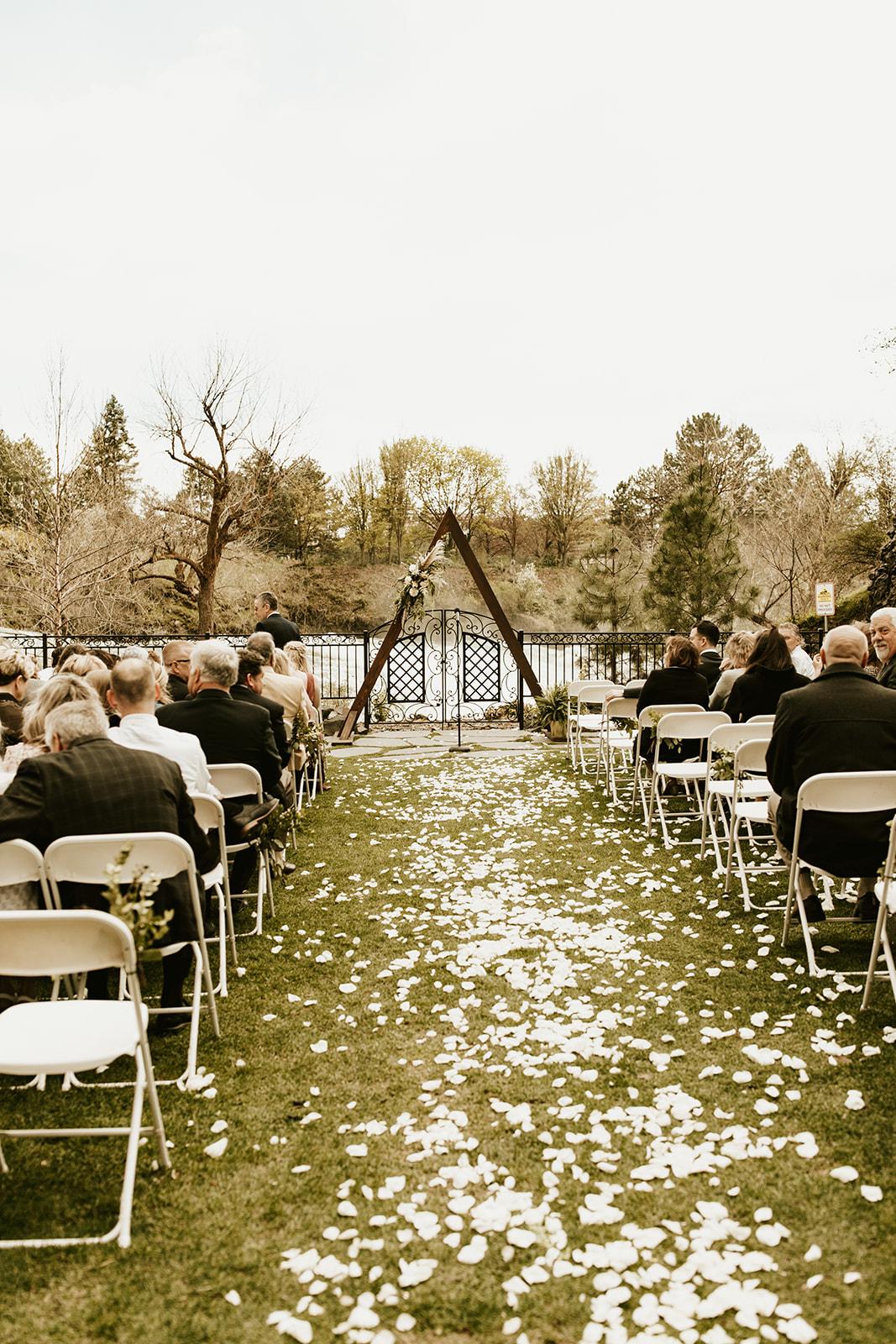 Chateau Rive Spokane Wedding Spokane Blog Dress venue