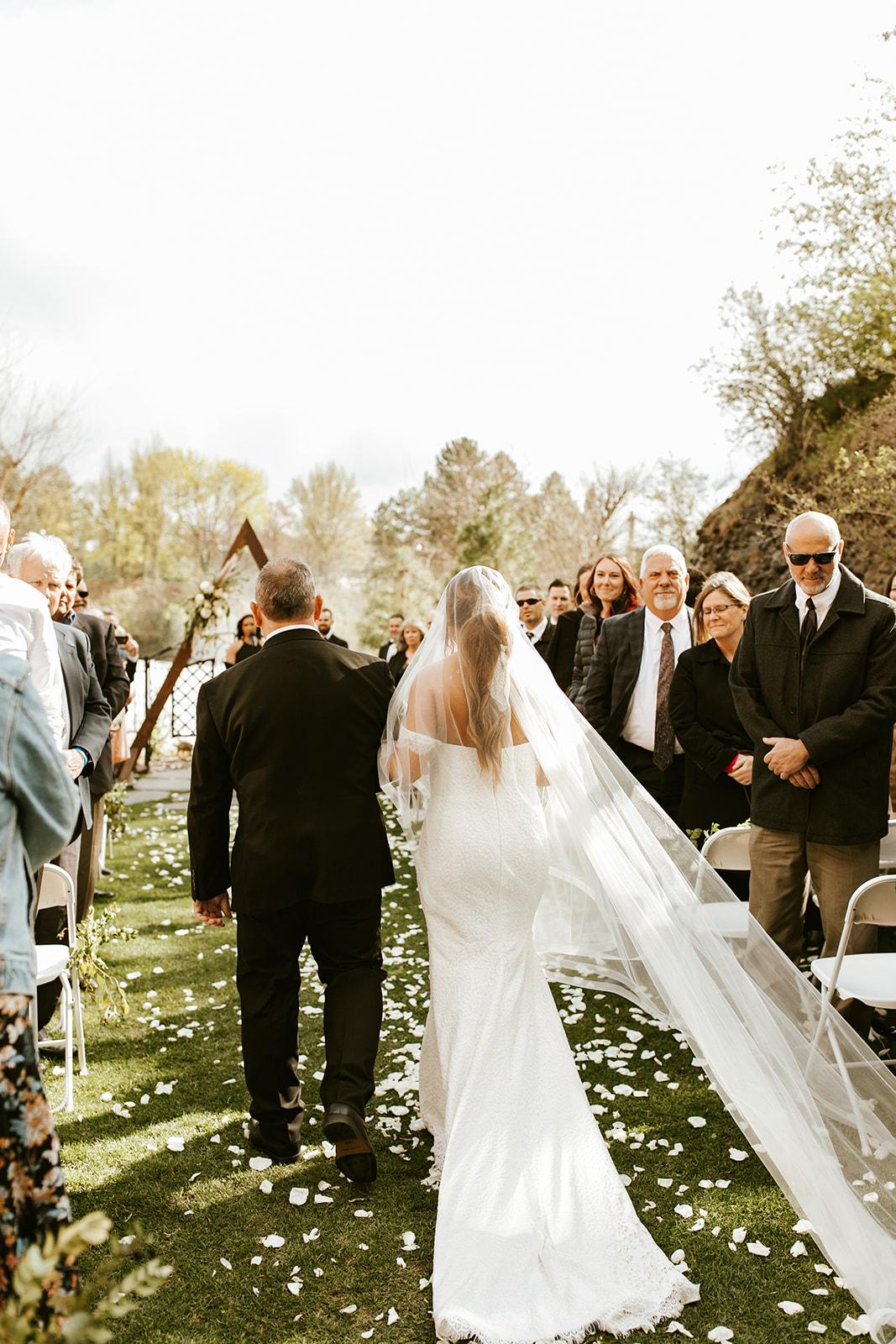 Chateau Rive Spokane Wedding Spokane Blog Dress aisle