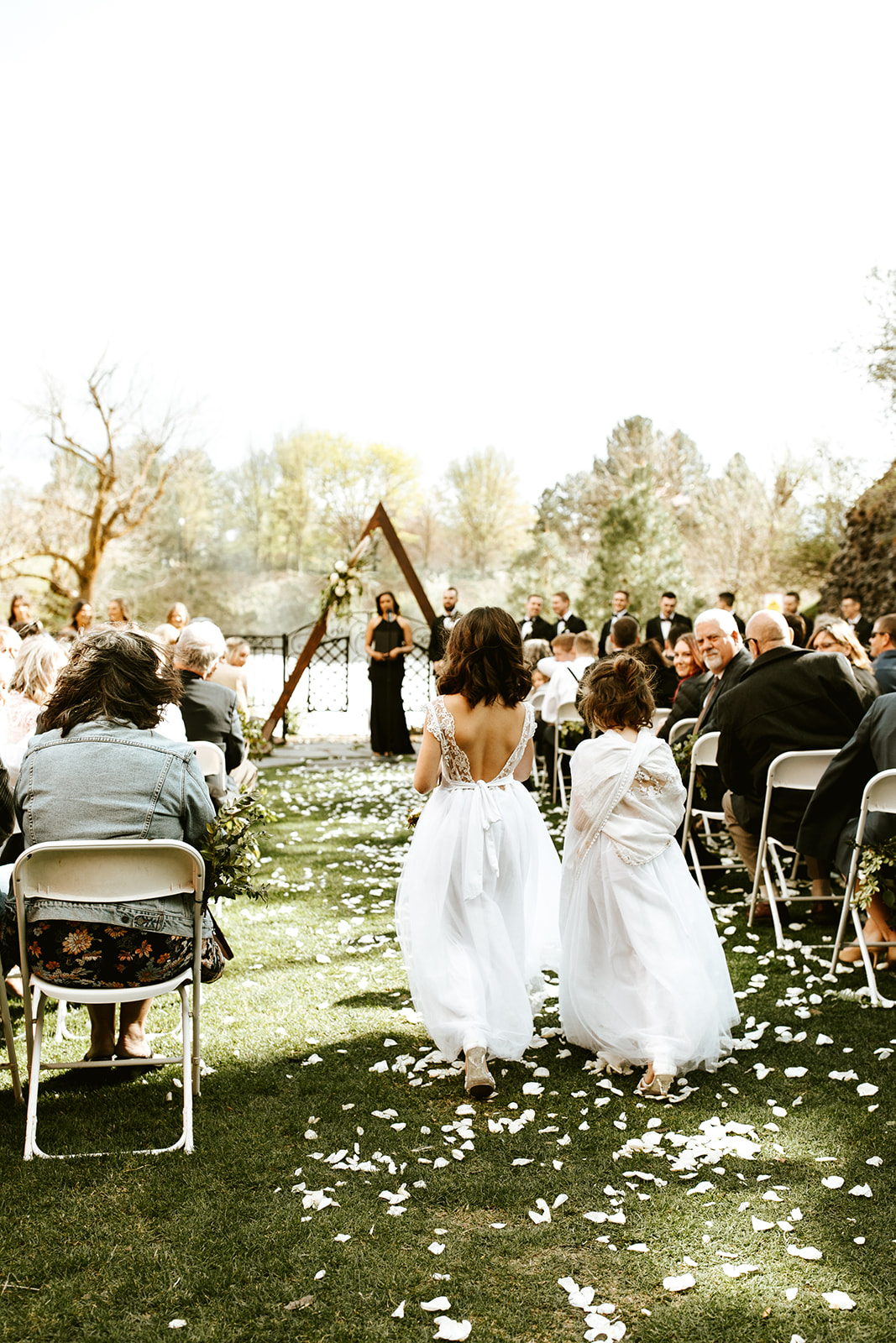Chateau Rive Spokane Wedding Spokane Blog Dress  flower girl
