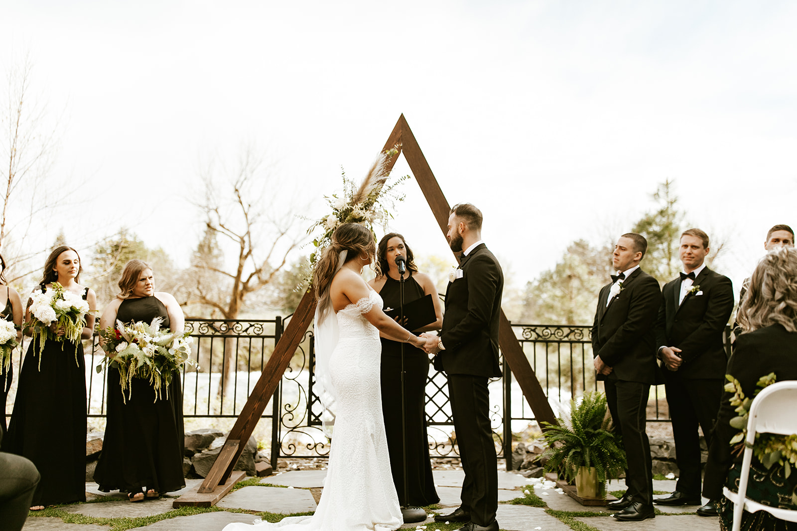 Chateau Rive Spokane Wedding Spokane Blog Dress ceremony