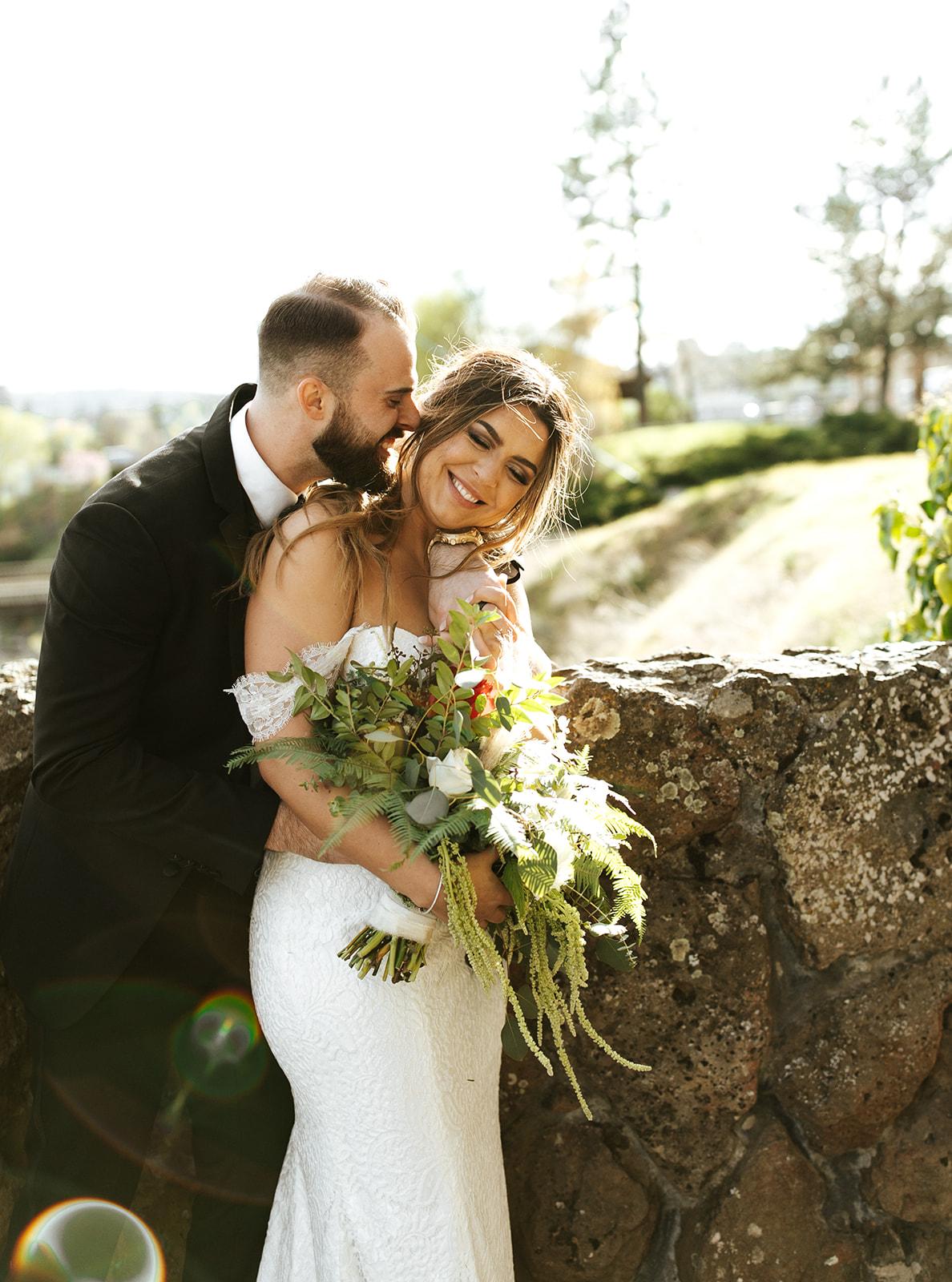 Chateau Rive Spokane Wedding Spokane Blog Dress bride groom