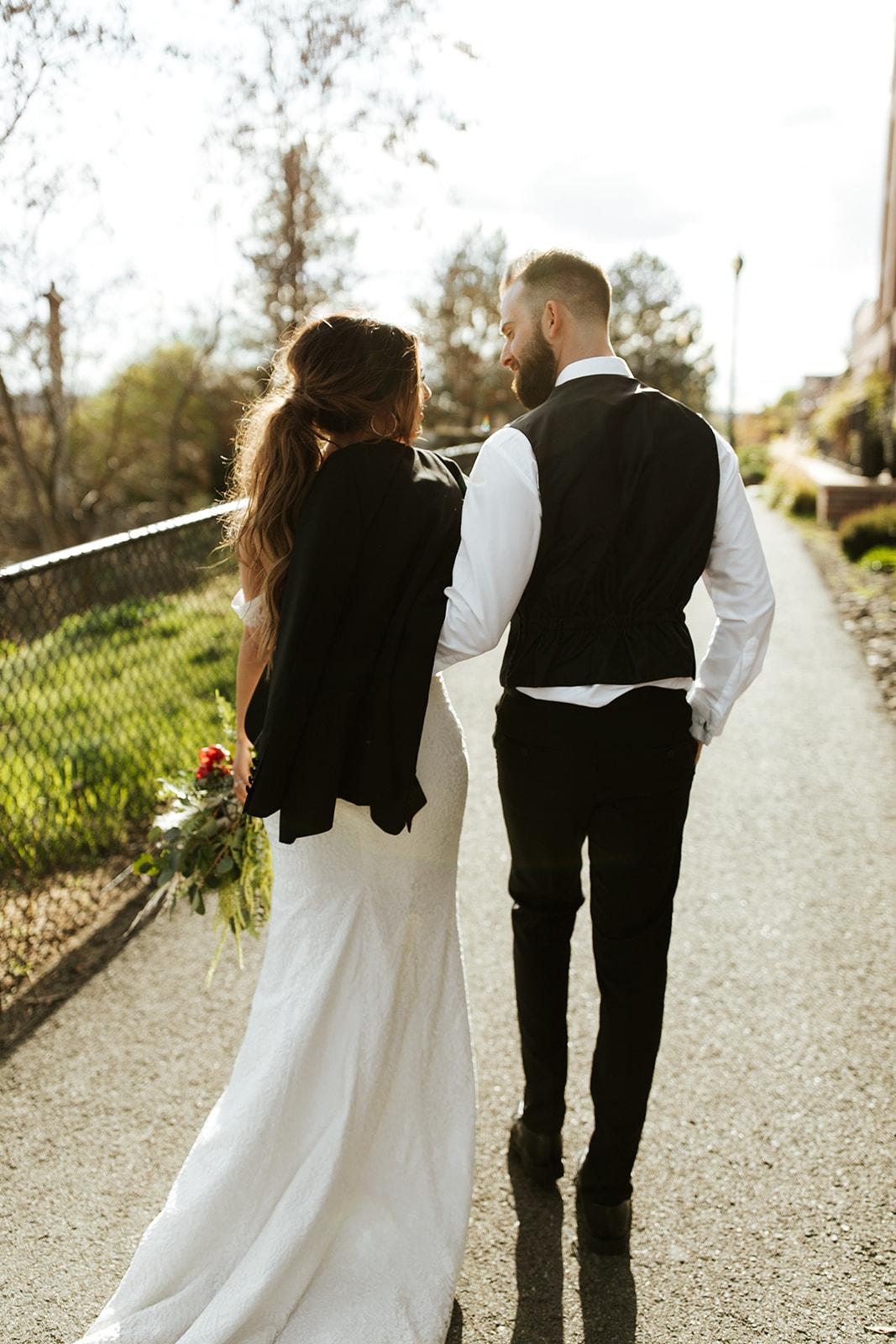 Chateau Rive Spokane Wedding Spokane Blog Dress couples photo