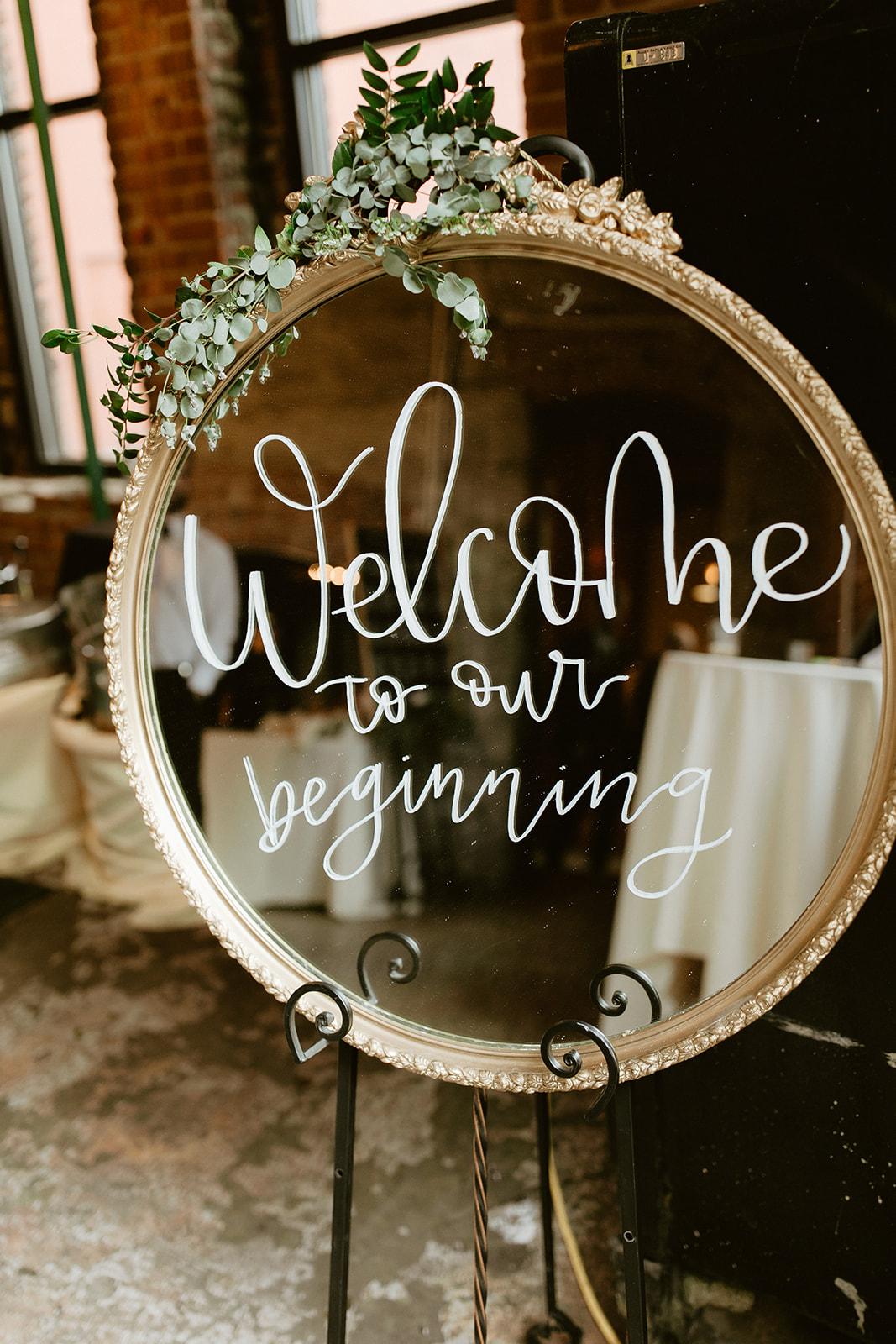Chateau Rive Spokane Wedding Spokane Blog Dress sign