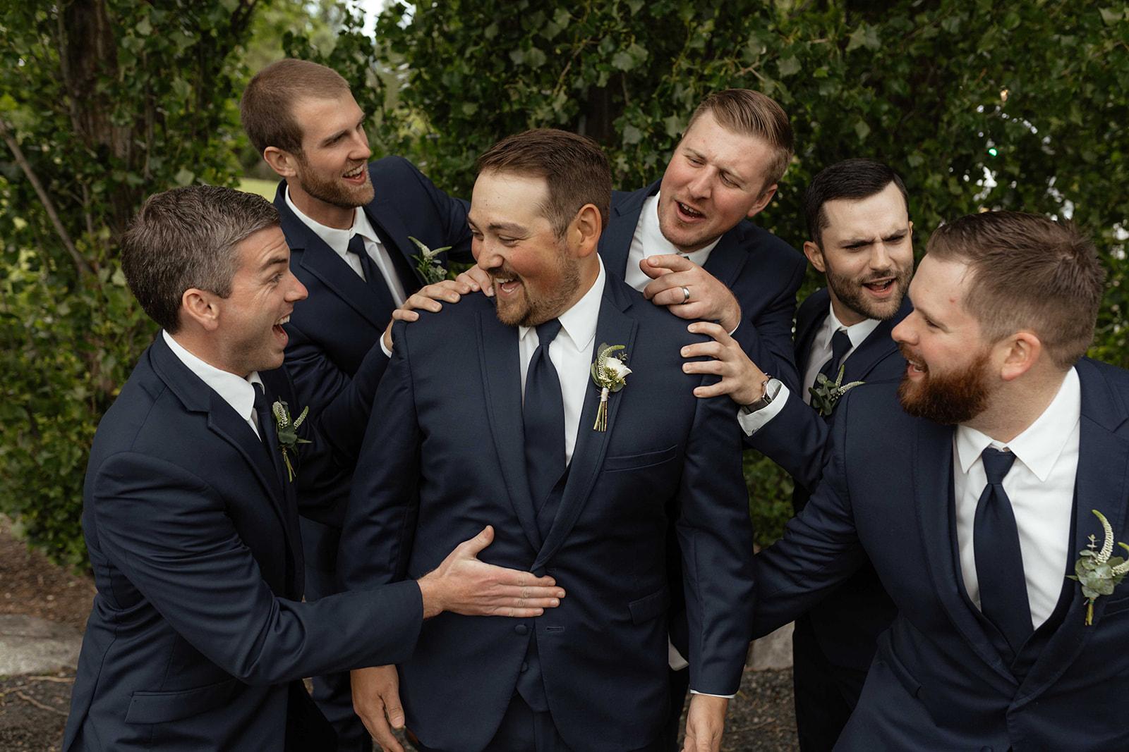 beacon hill wedding honest in ivory dress spokane groomsman