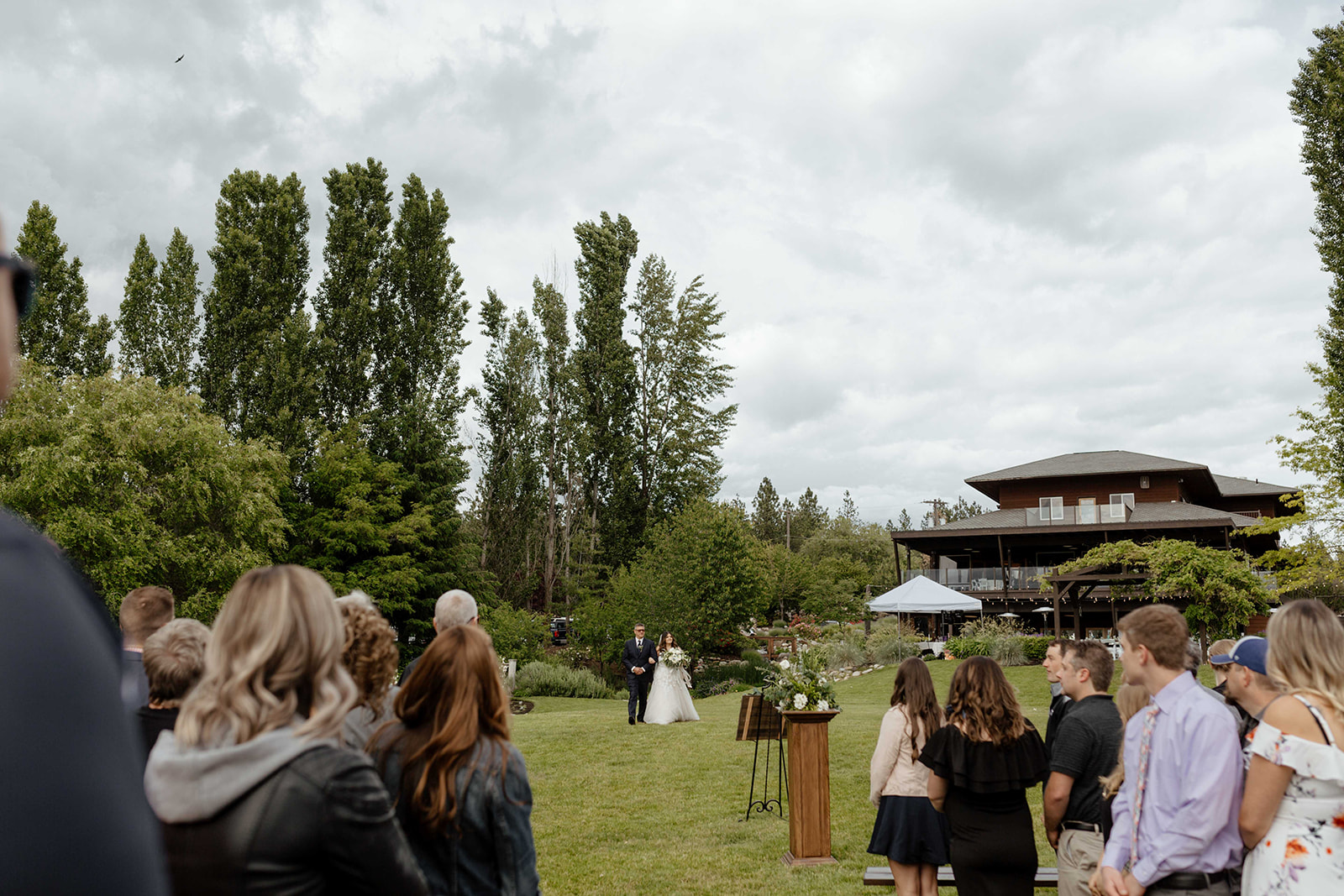 beacon hill wedding honest in ivory dress spokane bride
