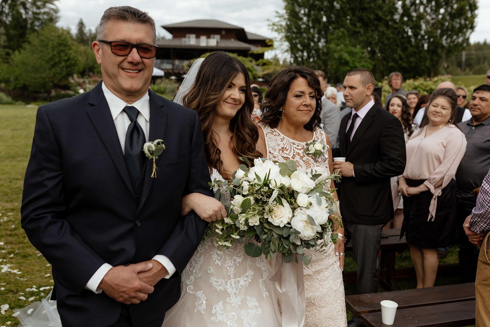 beacon hill wedding honest in ivory dress spokane aisle