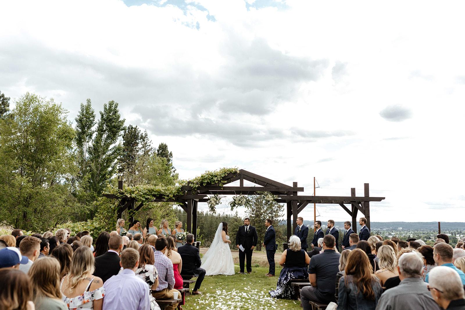 beacon hill wedding honest in ivory dress spokane ceremony