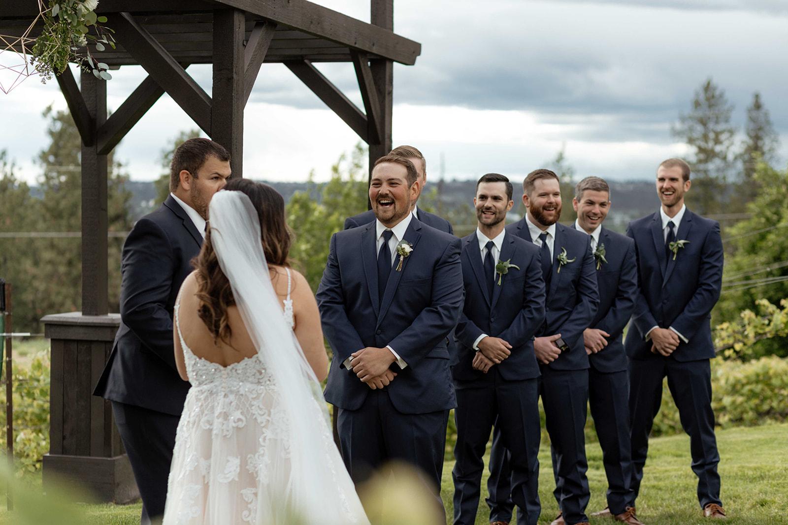 beacon hill wedding honest in ivory dress spokane vows