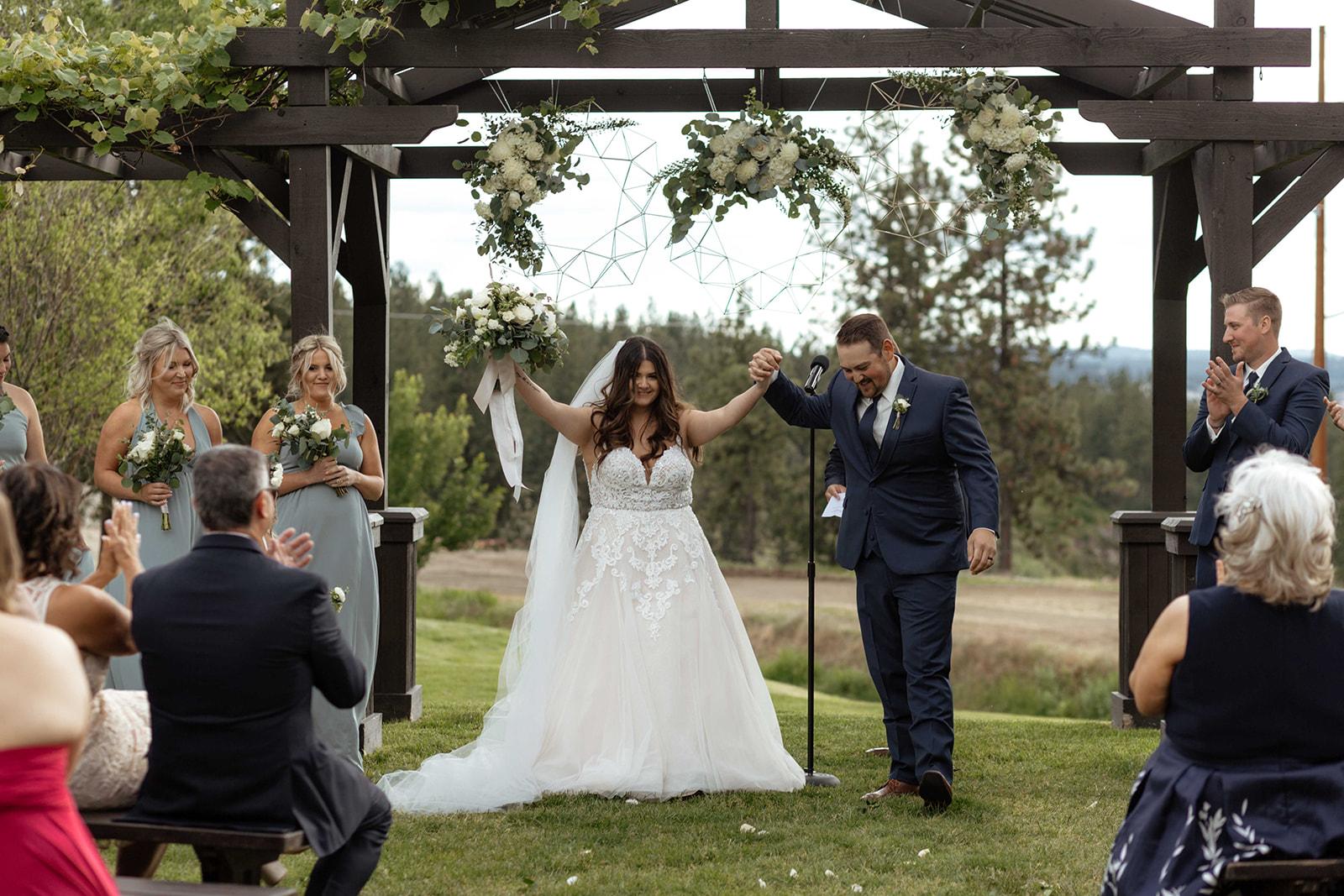 beacon hill wedding honest in ivory dress spokane married