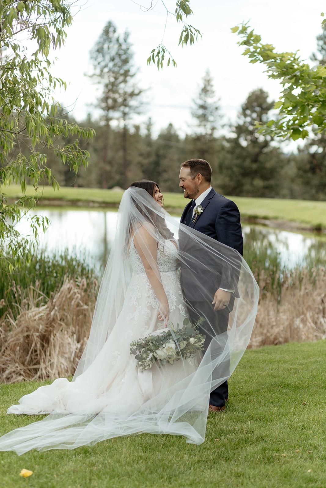 beacon hill wedding honest in ivory dress spokane couple