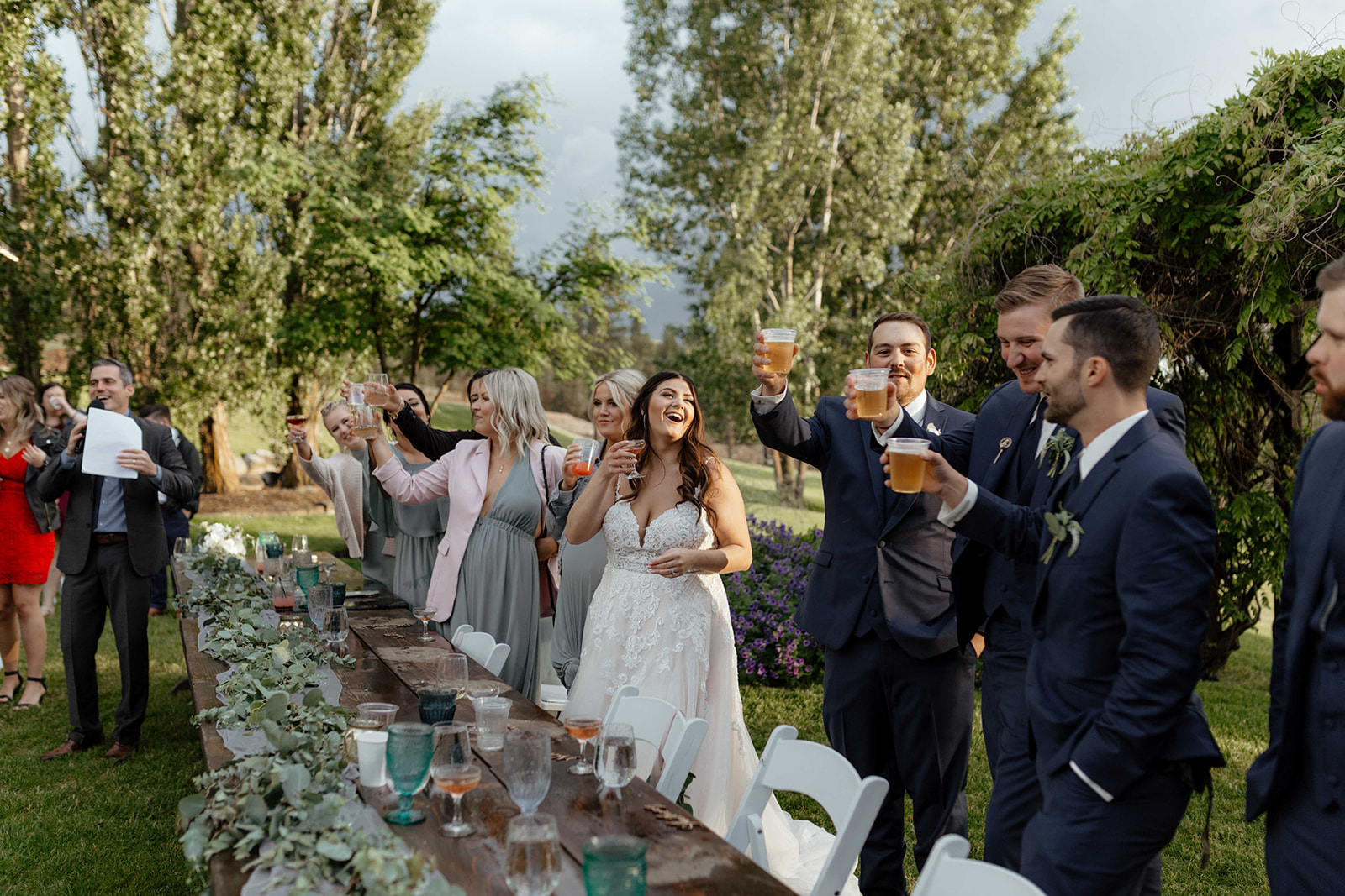 beacon hill wedding honest in ivory dress spokane toasts