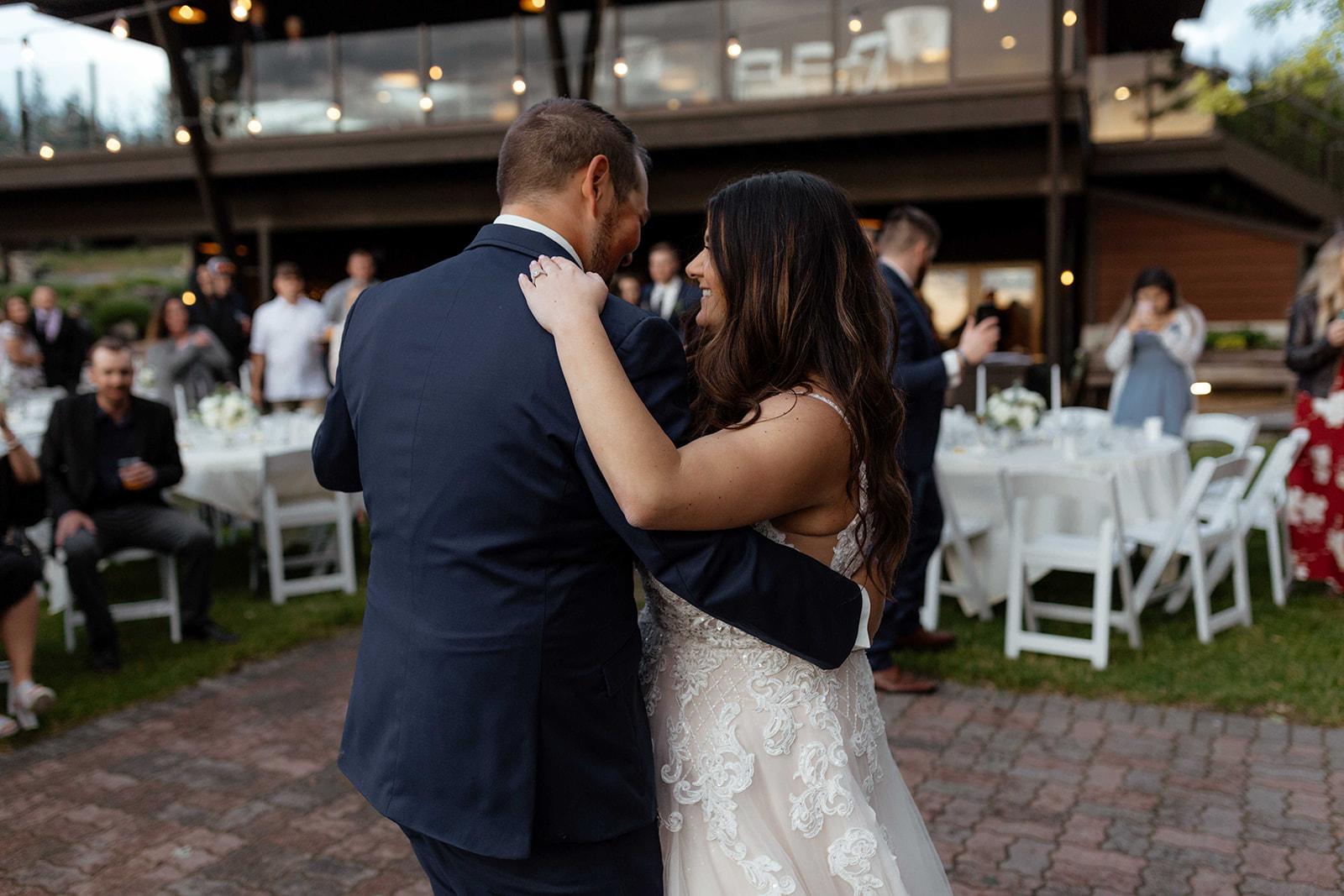 beacon hill wedding honest in ivory dress spokane dancing
