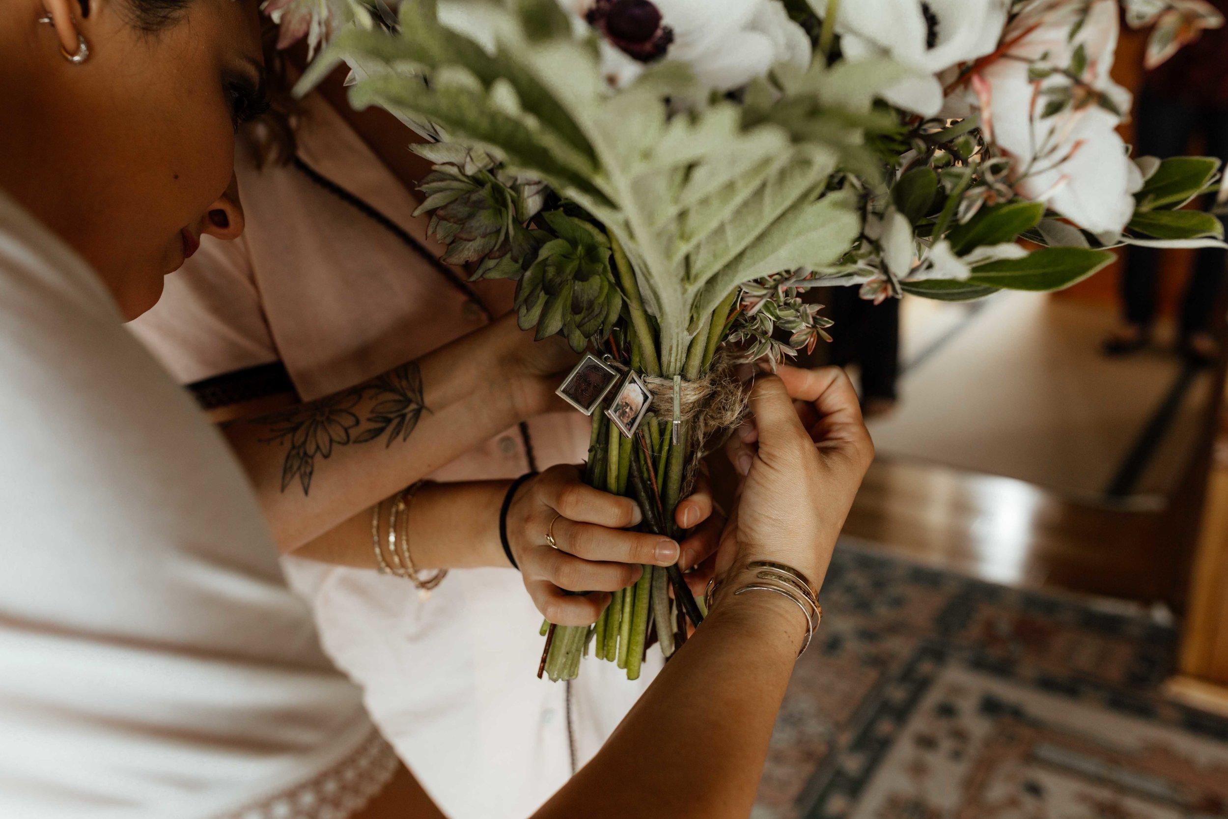 moody wedding simple spokane bride