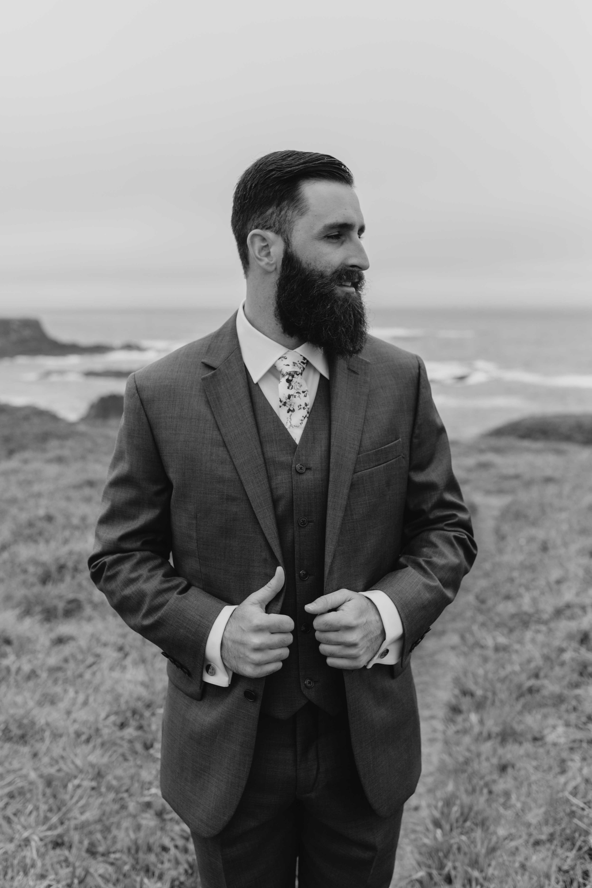 groom beach california elopement spokane bride