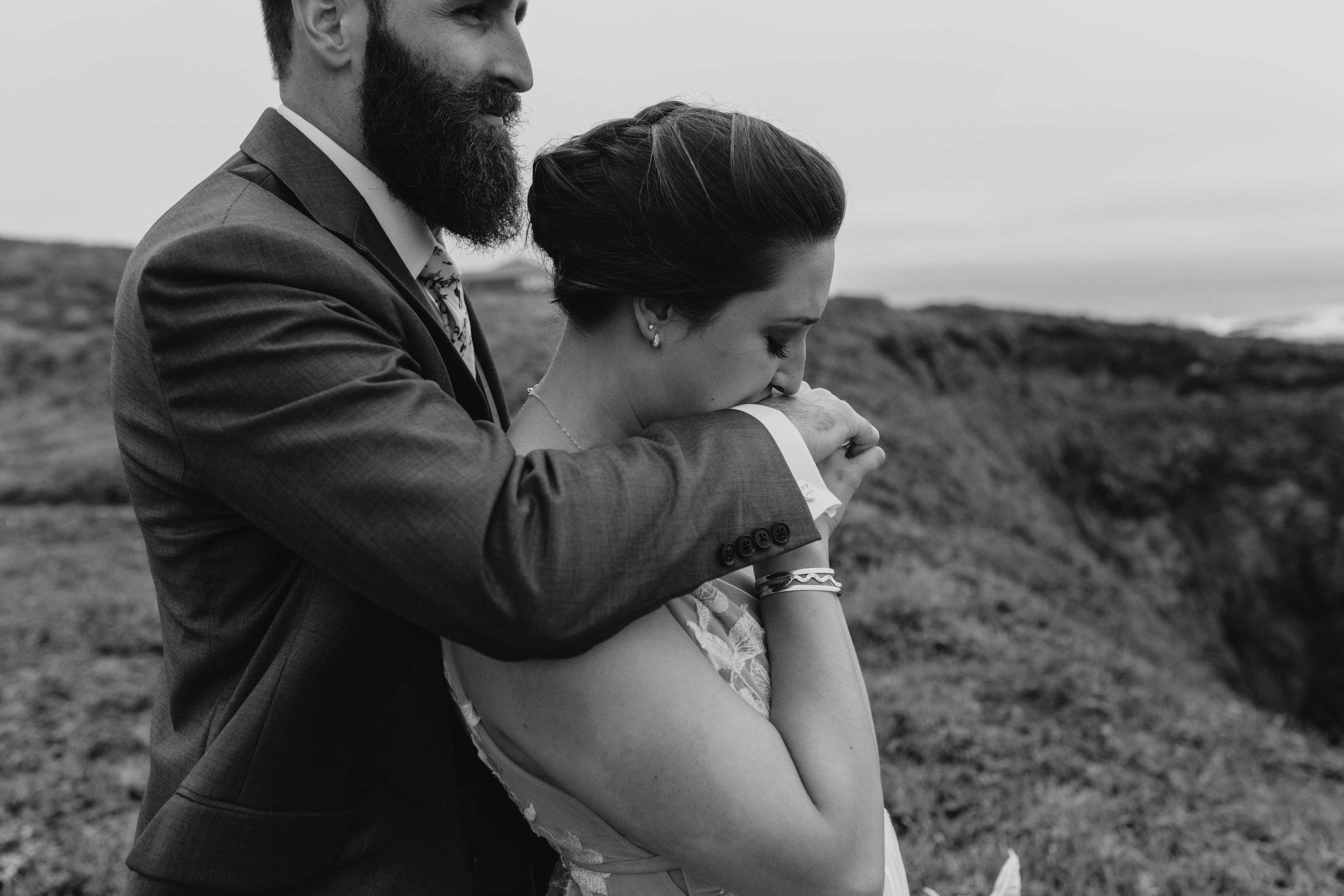 moody spokane bride unique elopement