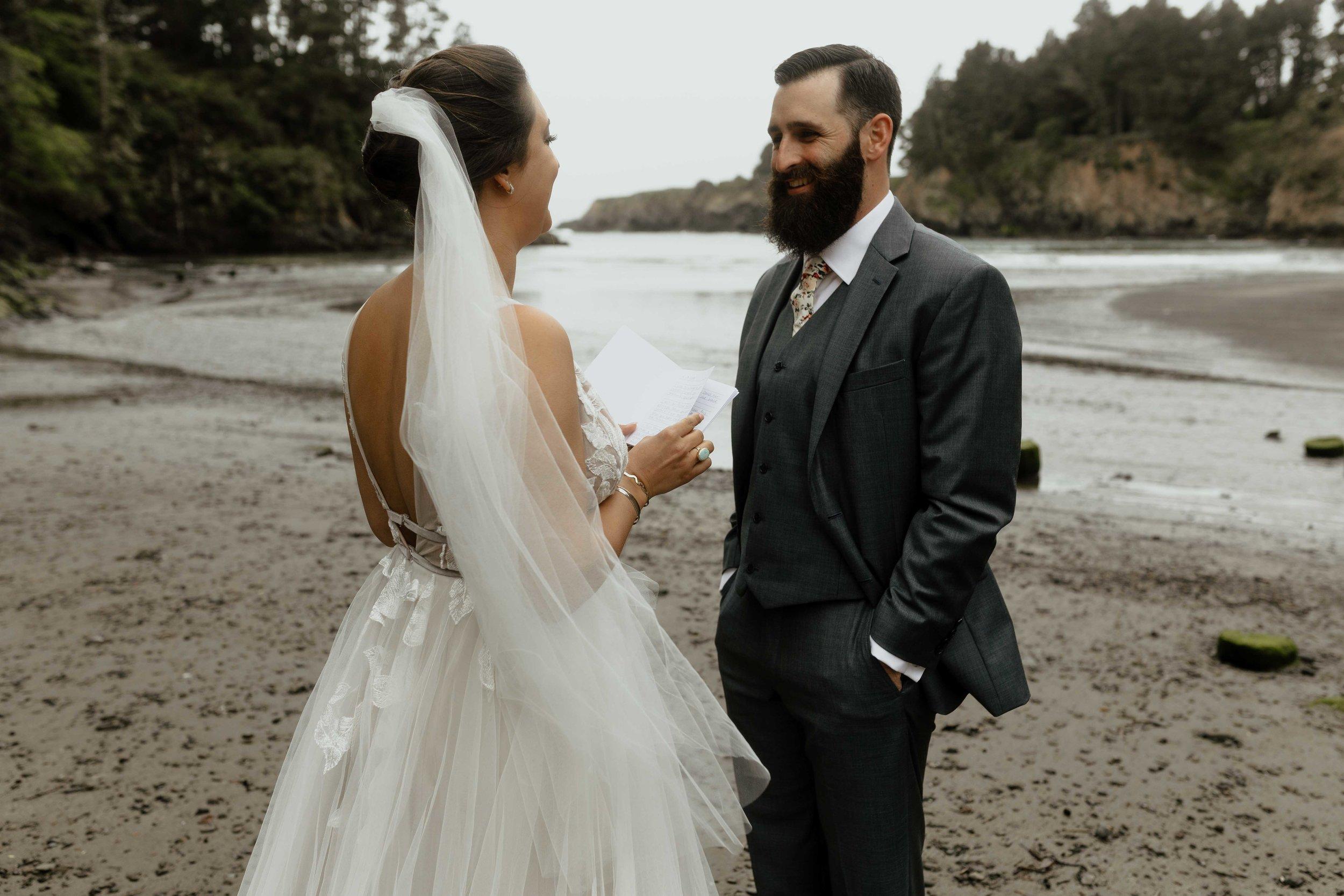 beach elopement spokane couple bridal shop