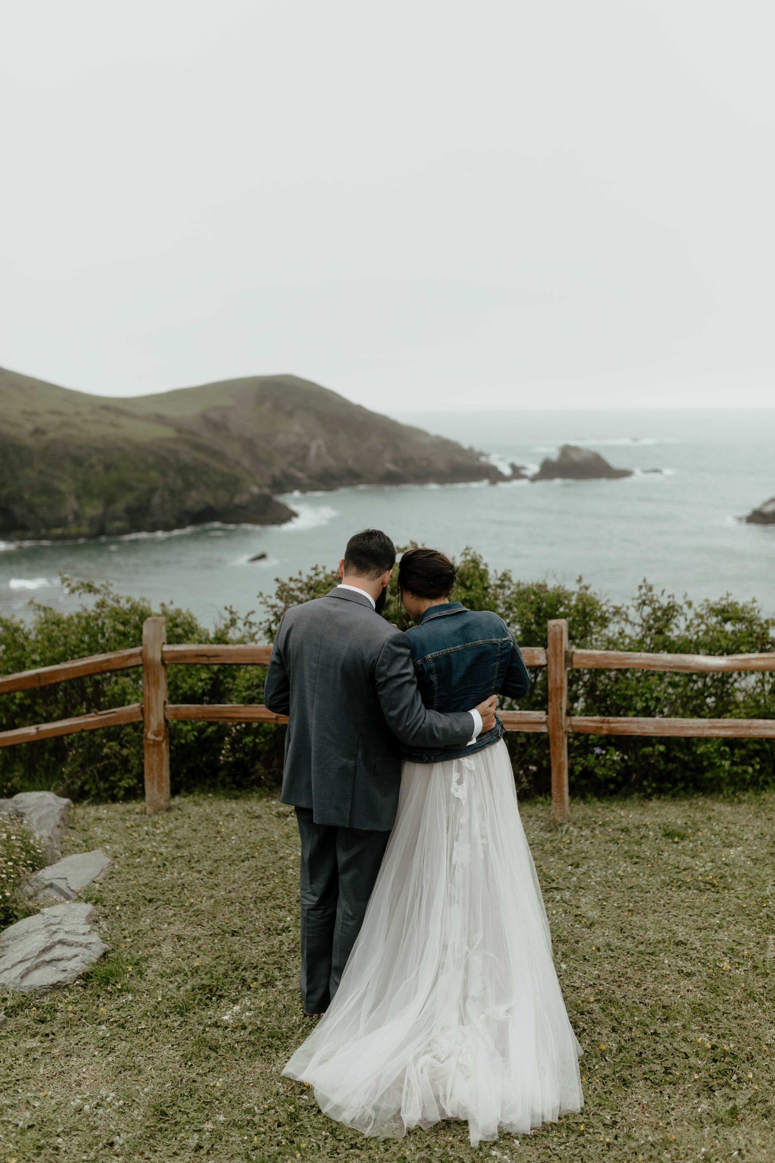 summer elopement beach wedding spokane couple