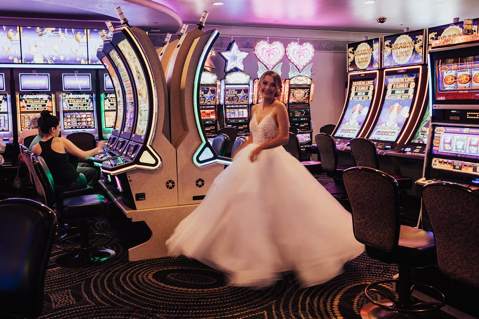 vegas wedding spokane bride casino fun