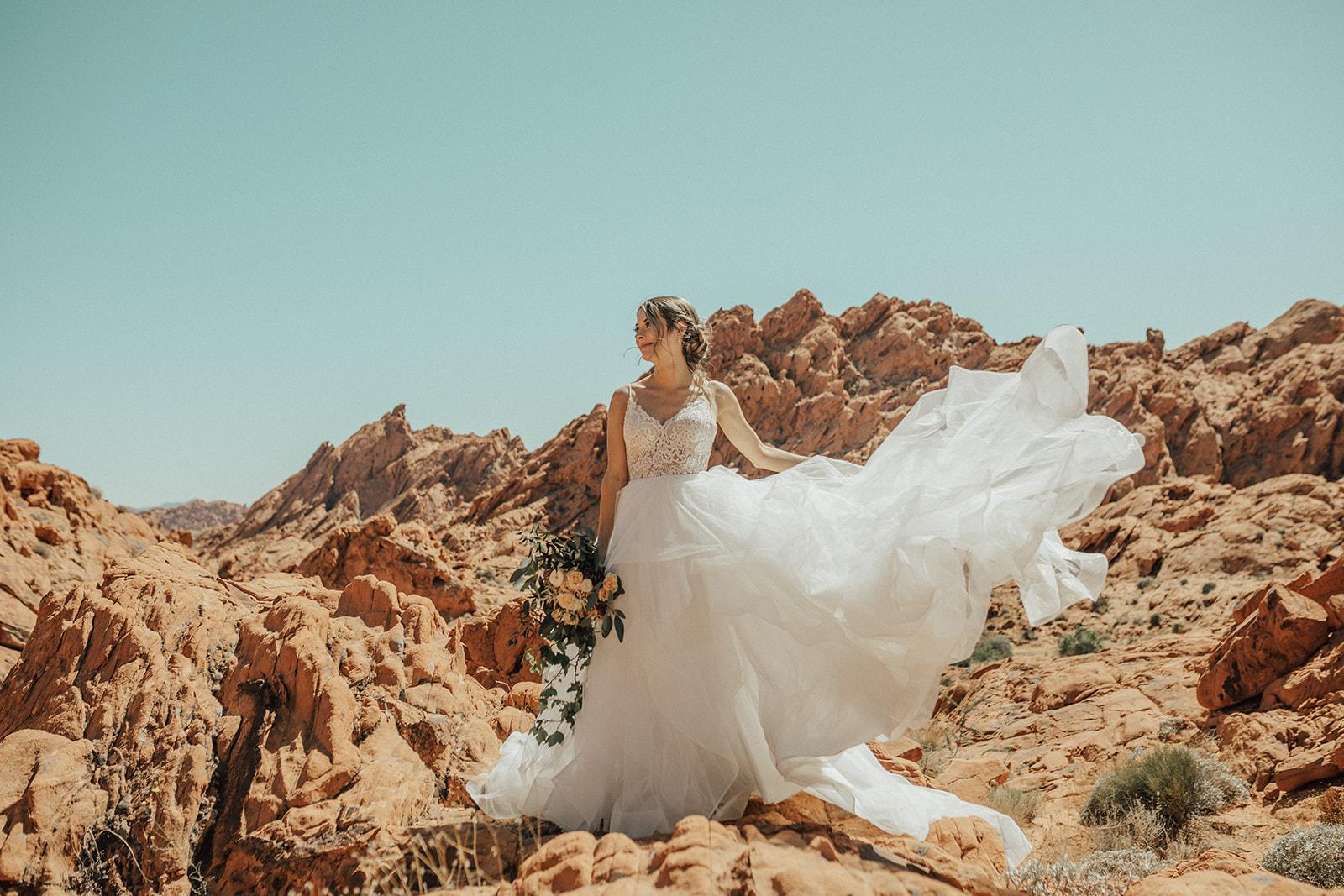 ballgown spokane bridal shop desert elopement