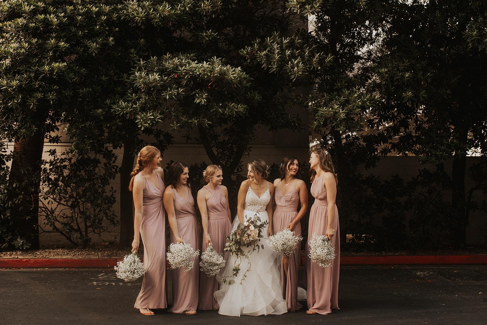 bridal party spokane bride vegas wedding