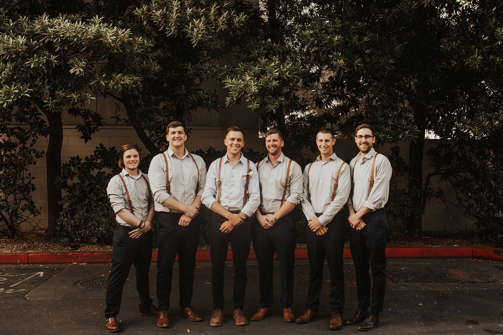 groomsmen spokane bride and groom