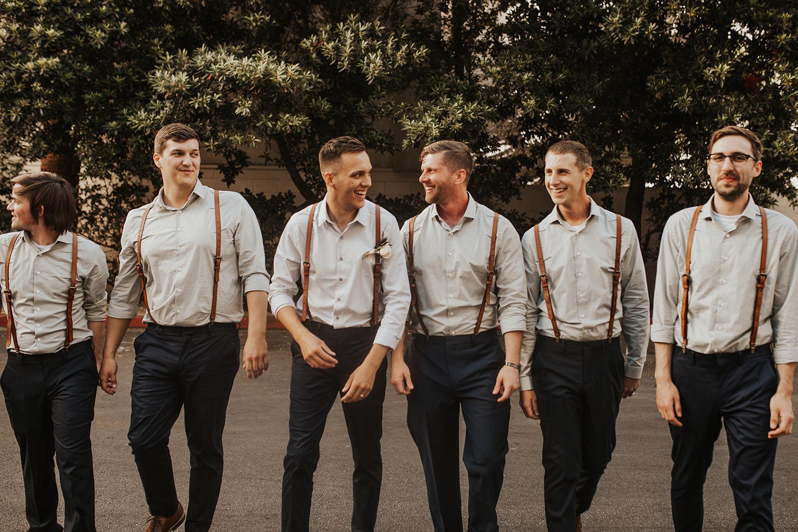 groomsmen spokane couple