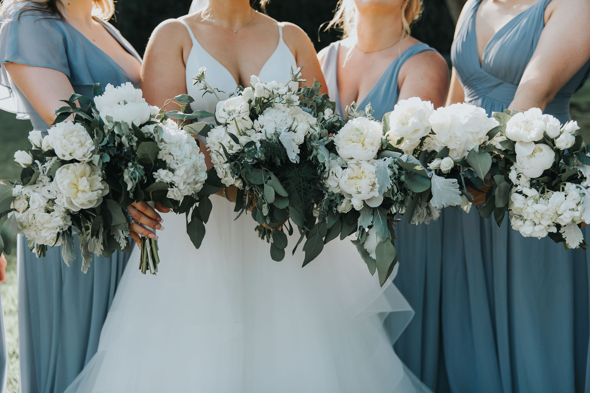 bridal bouquet bridesmaids spokane wedding