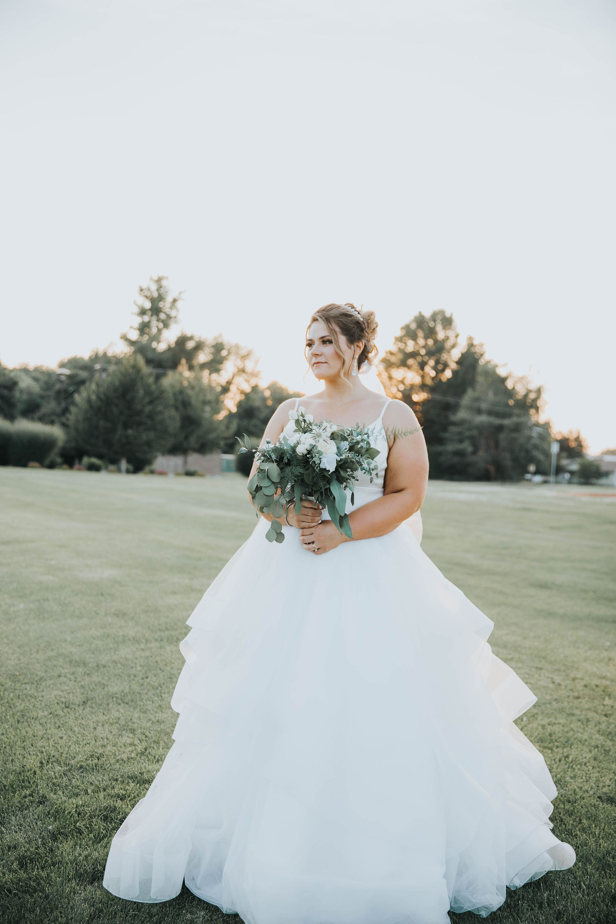 spokane bride summer wedding