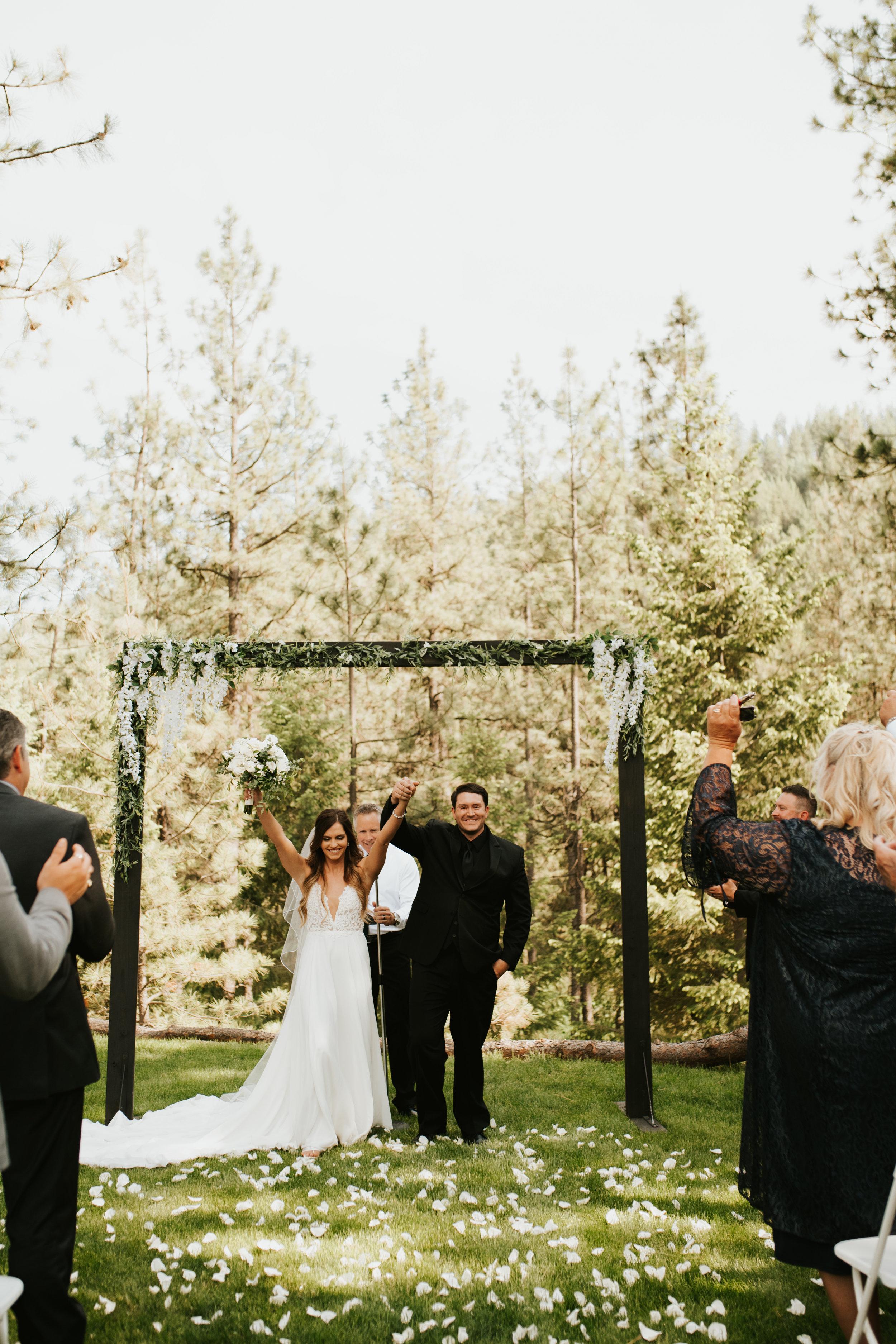 happy couple spokane wedding