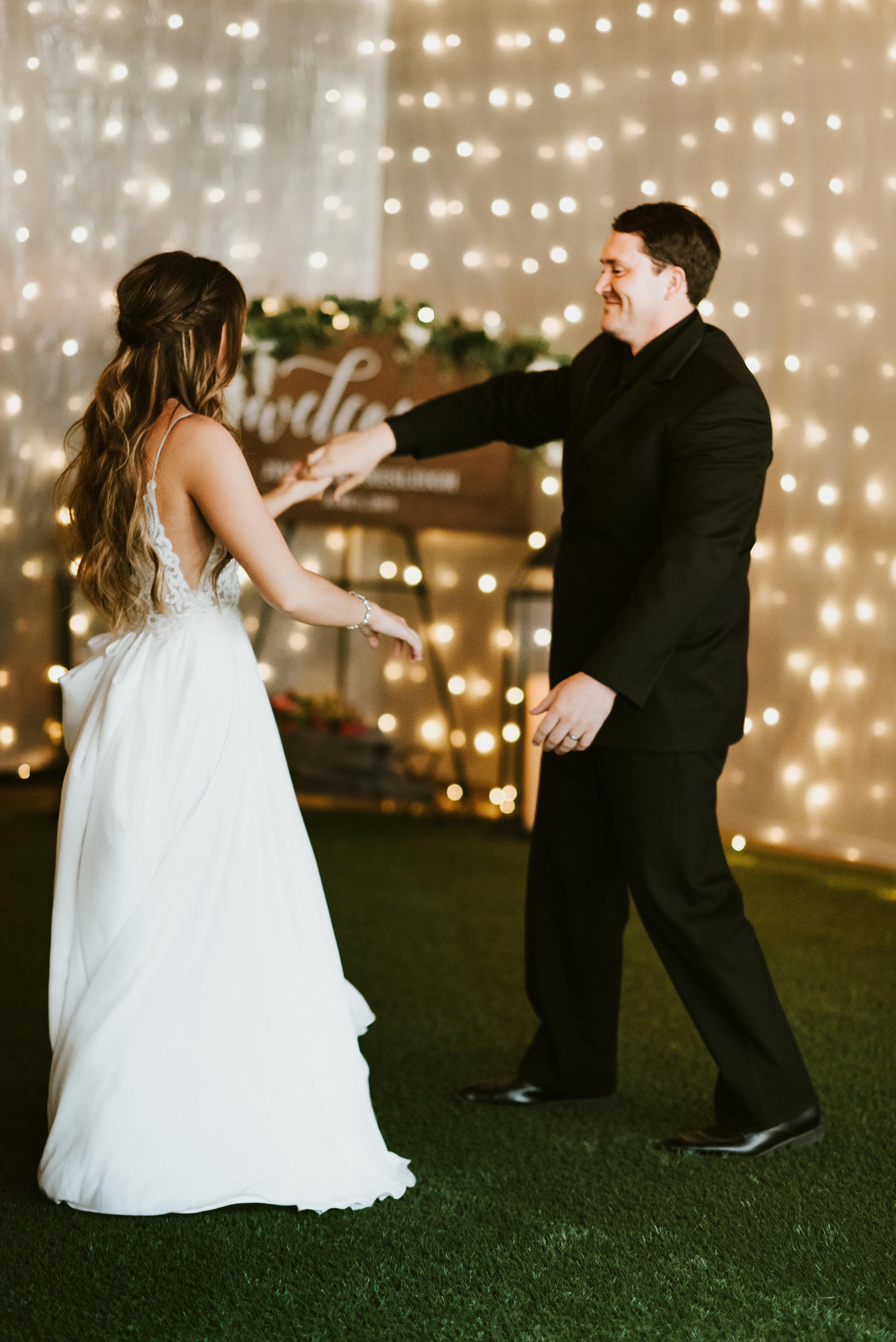 first dance spokane groom and bride wedding