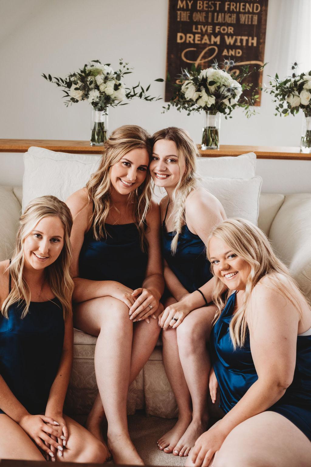 bridesmaids with the bride spokane wedding