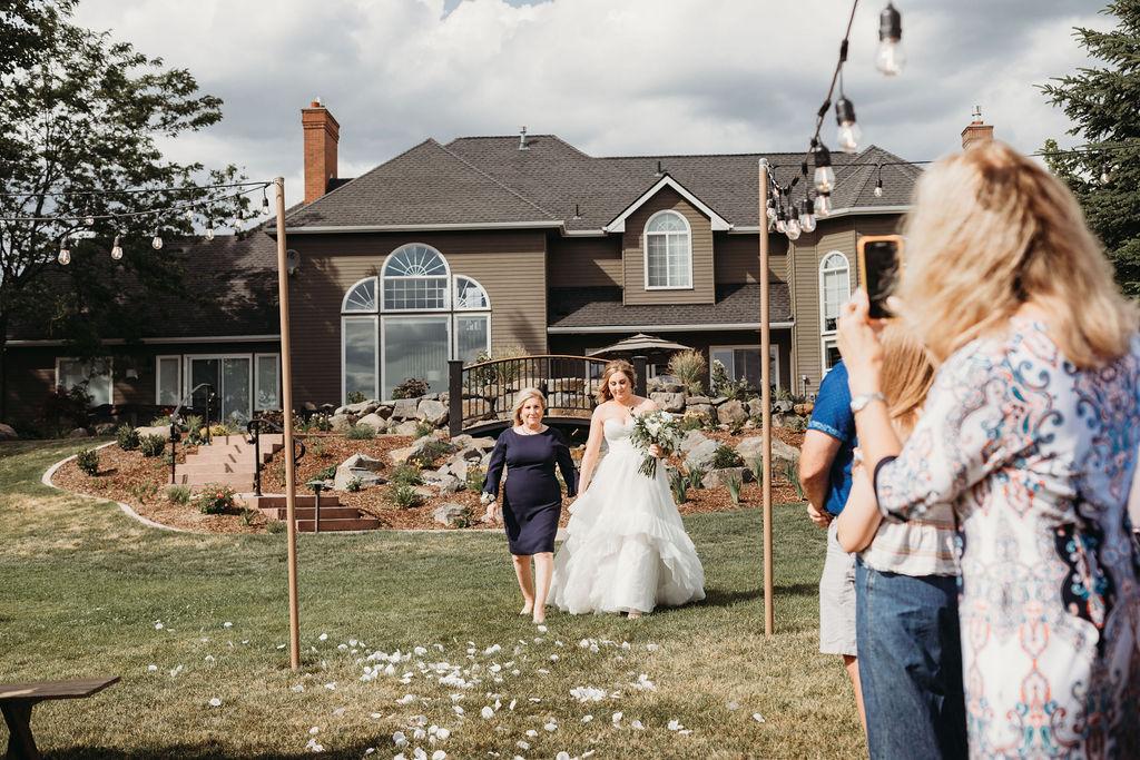 walking down the aisle spokane wedding