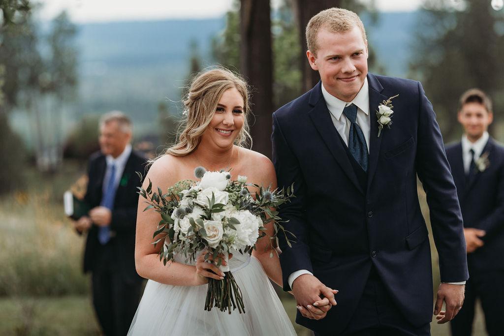 newlywed couple spokane bride and groom