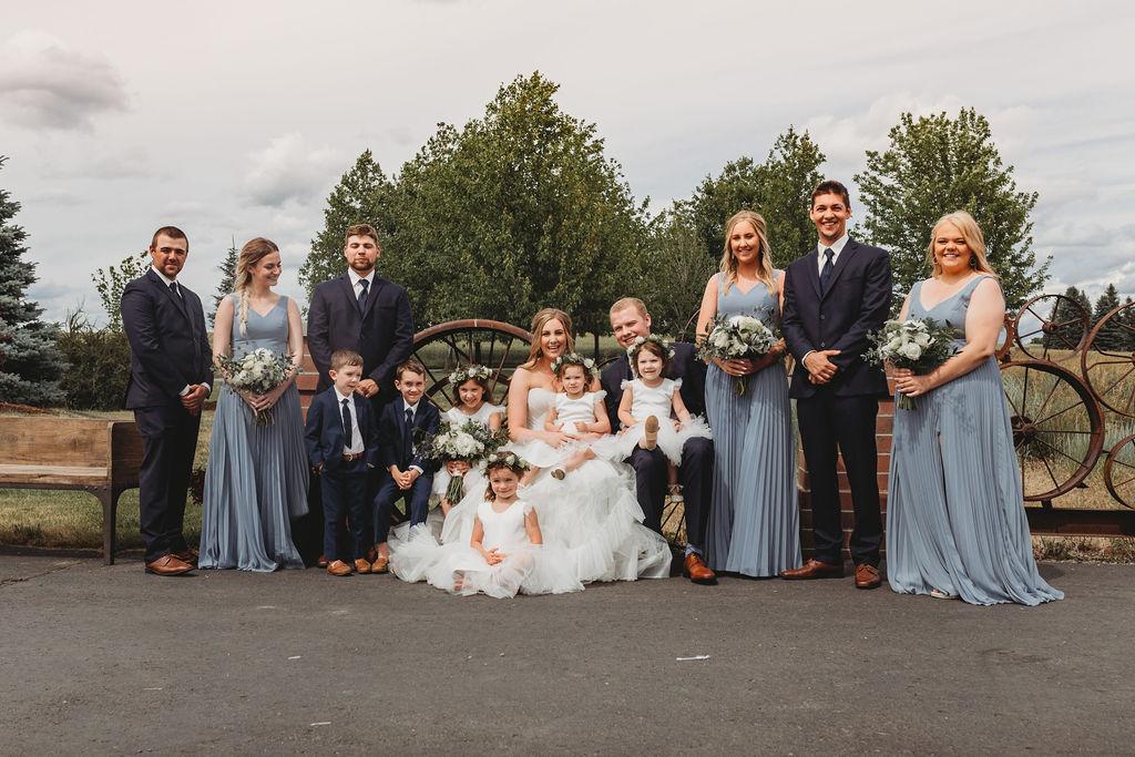 bridal party spokane greenbluff wedding